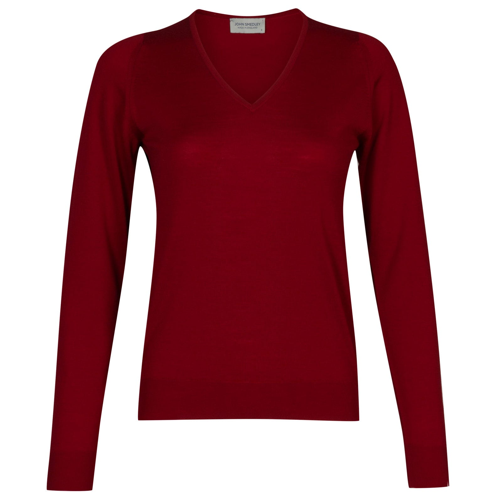 John Smedley manarola Merino Wool Sweater in Crimson Forest-S