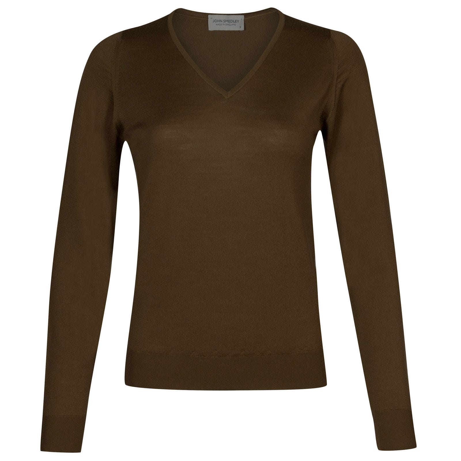 John Smedley manarola Merino Wool Sweater in Kielder Green-M