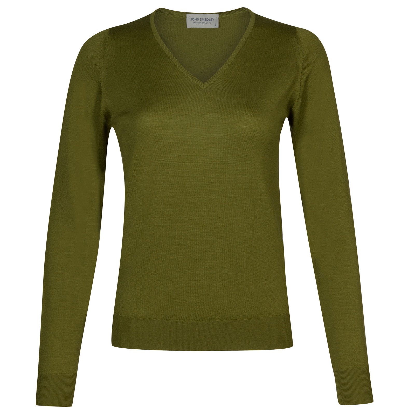 John Smedley manarola Merino Wool Sweater in Lumsdale Green-S