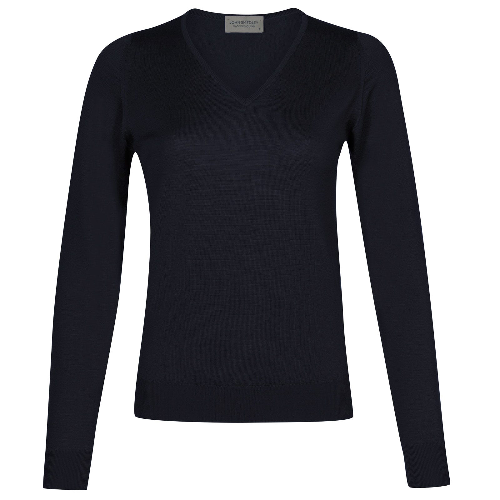 John Smedley manarola Merino Wool Sweater in Midnight-L