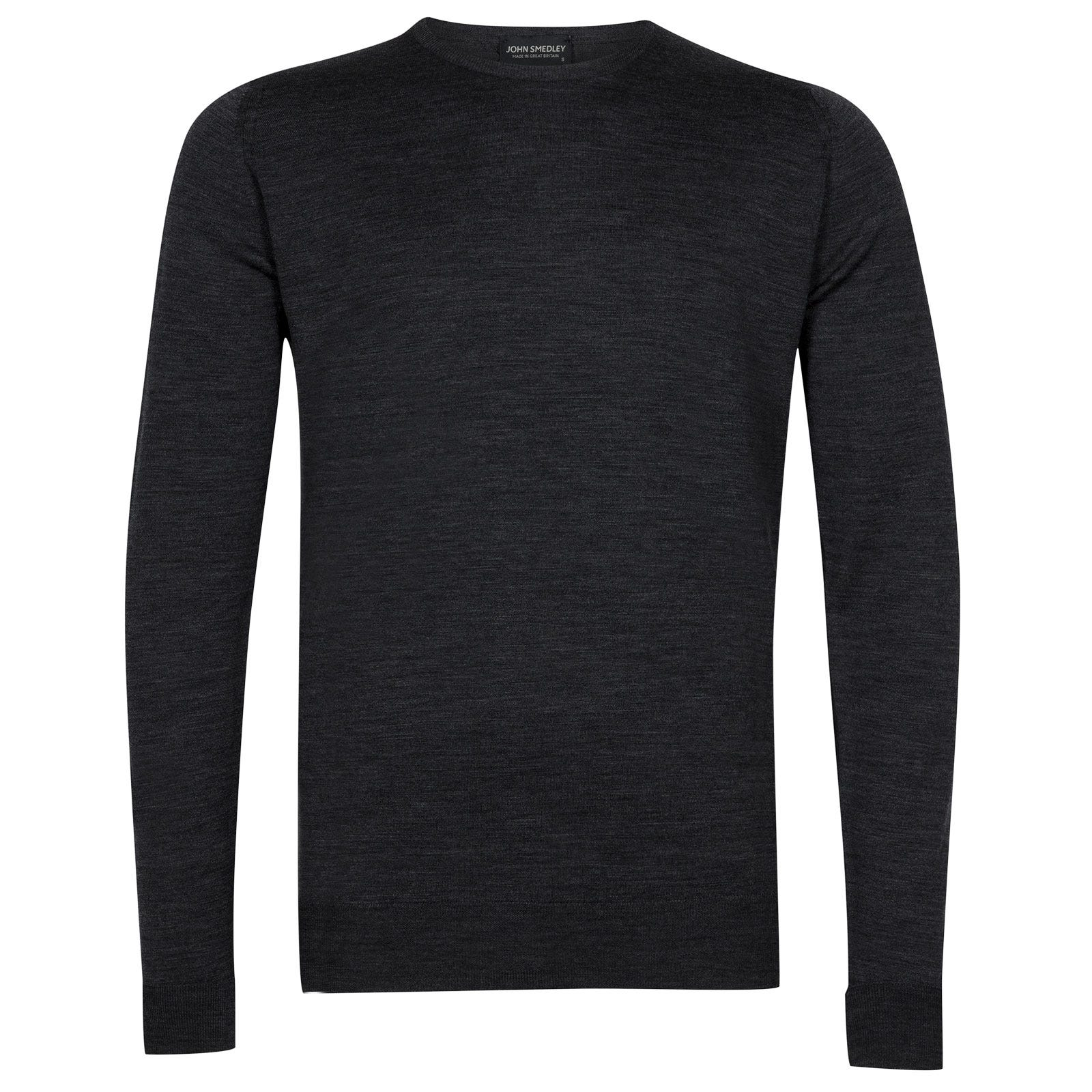 John Smedley marcus Merino Wool Pullover in Charcoal-XL