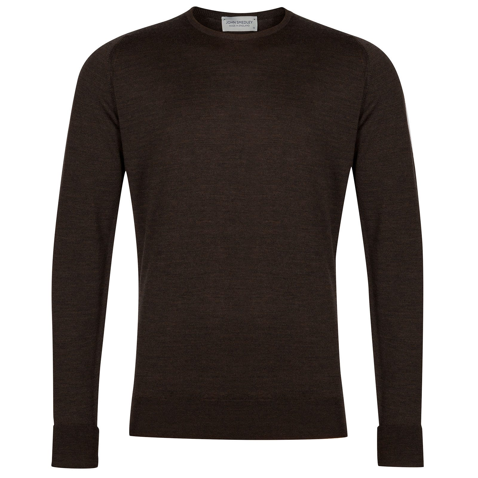 John Smedley Marcus Merino Wool Pullover in Chestnut-S