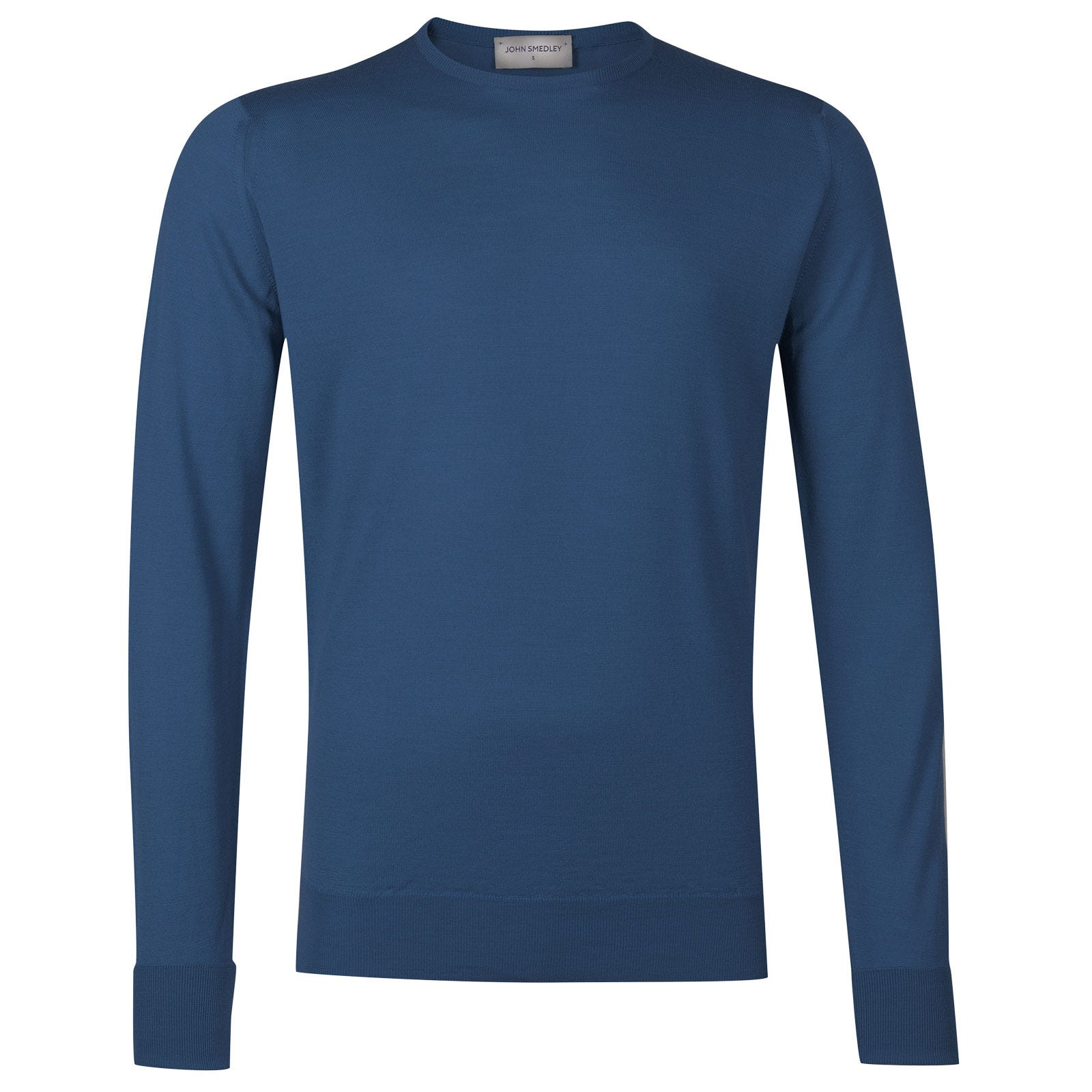 John Smedley marcus Merino Wool Pullover in Derwent Blue-S