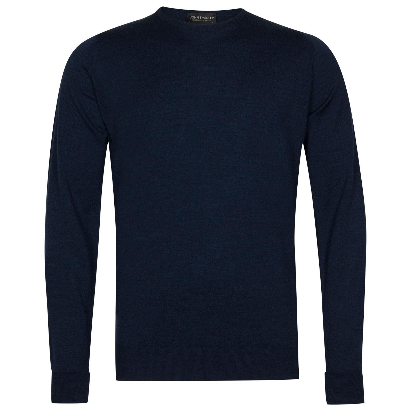 John Smedley marcus Merino Wool Pullover in Indigo-XL