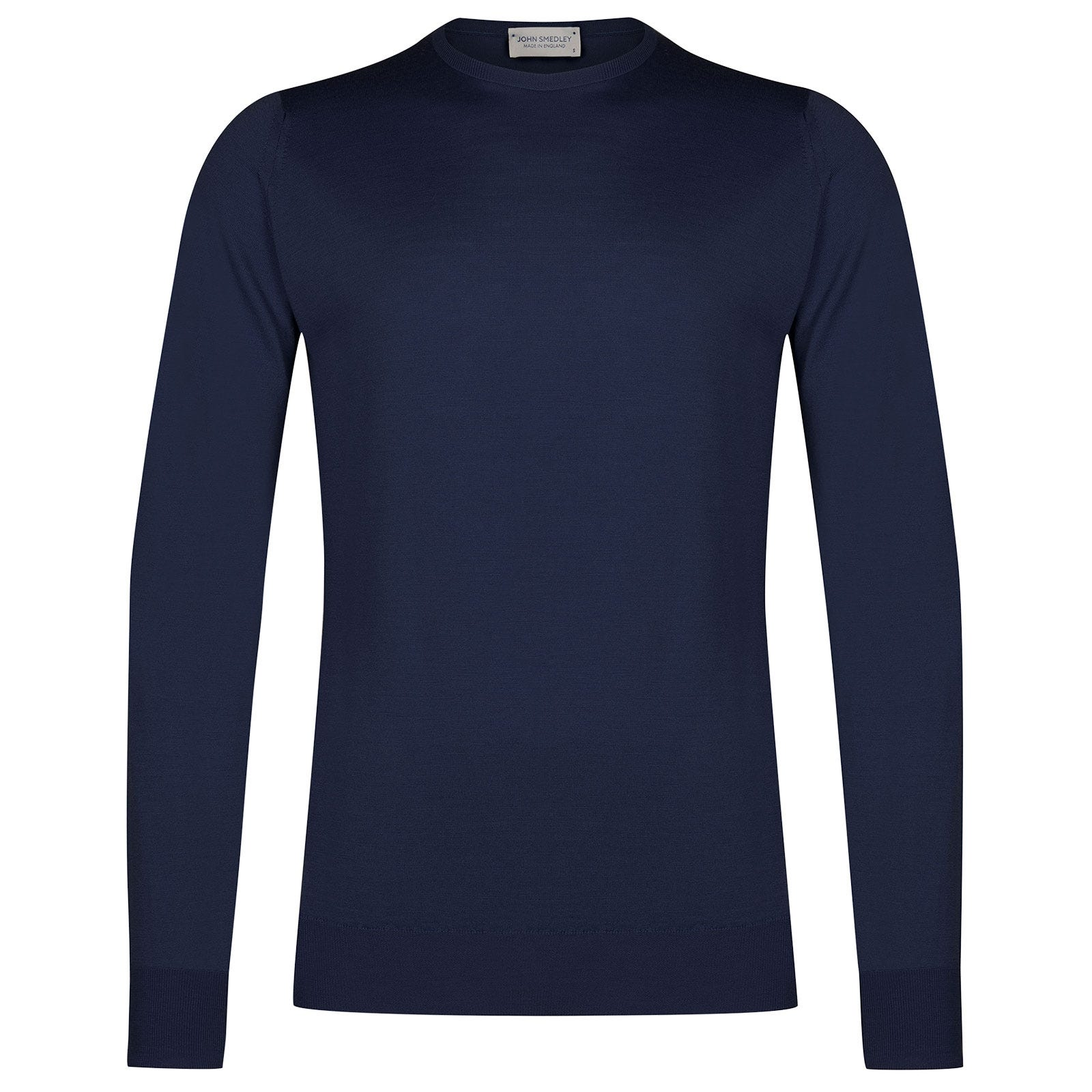John Smedley Marcus Merino Wool Pullover in Magnetic Cobalt-L