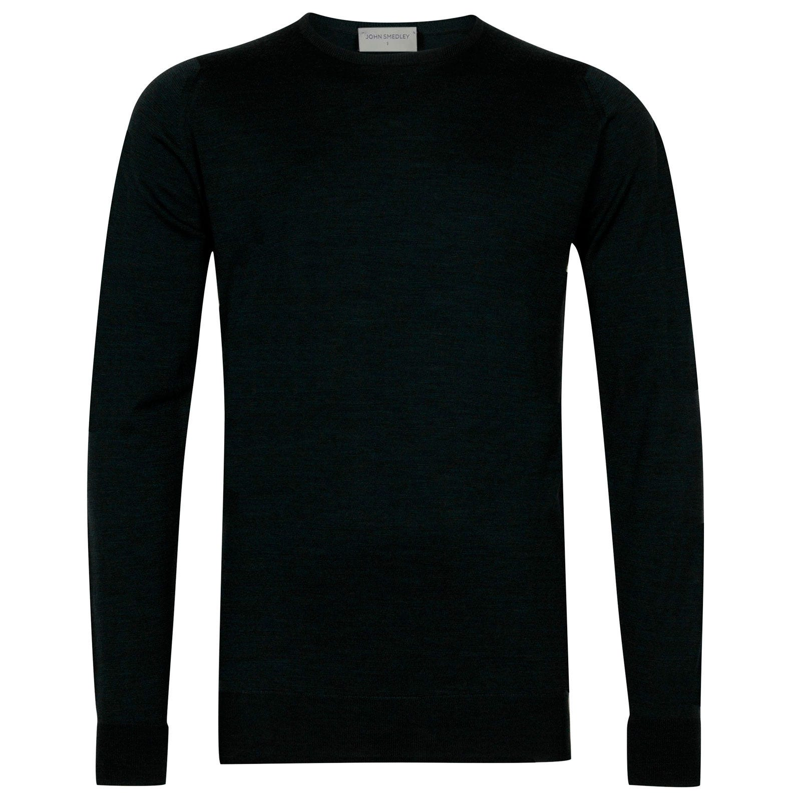 John Smedley Marcus Merino Wool Pullover in Racing Green-XL