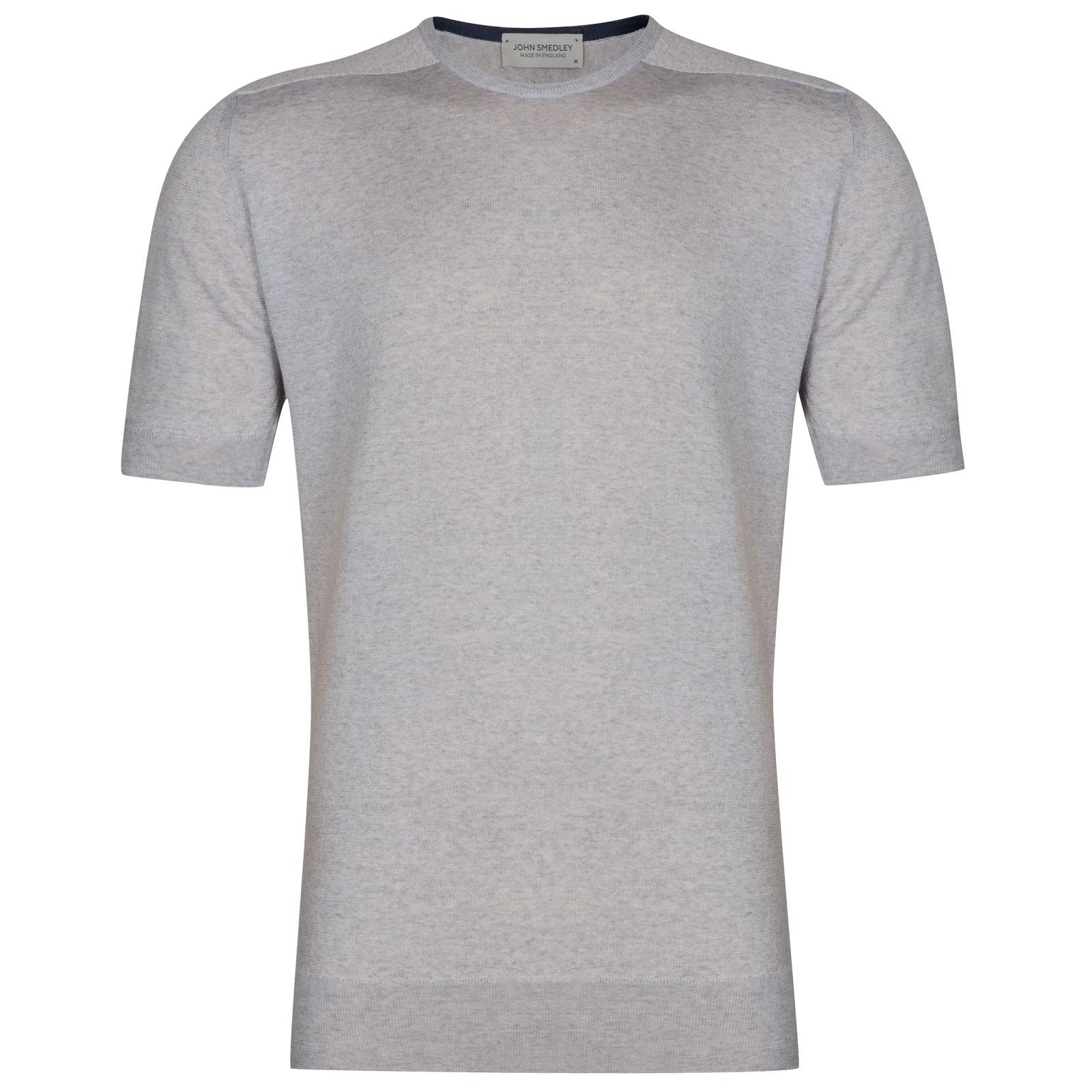 John Smedley Maro in Bardot Grey T-Shirt-MED