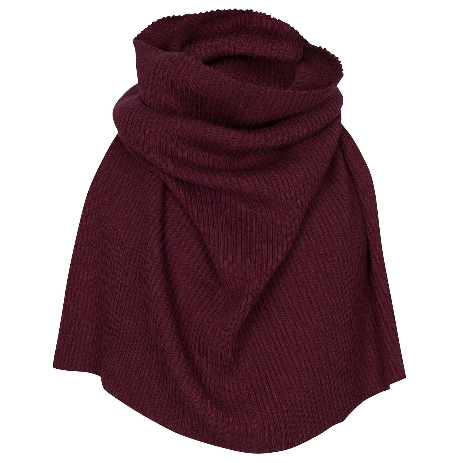 John Smedley Marta Merino Wool Snood in Bordeaux-ONE