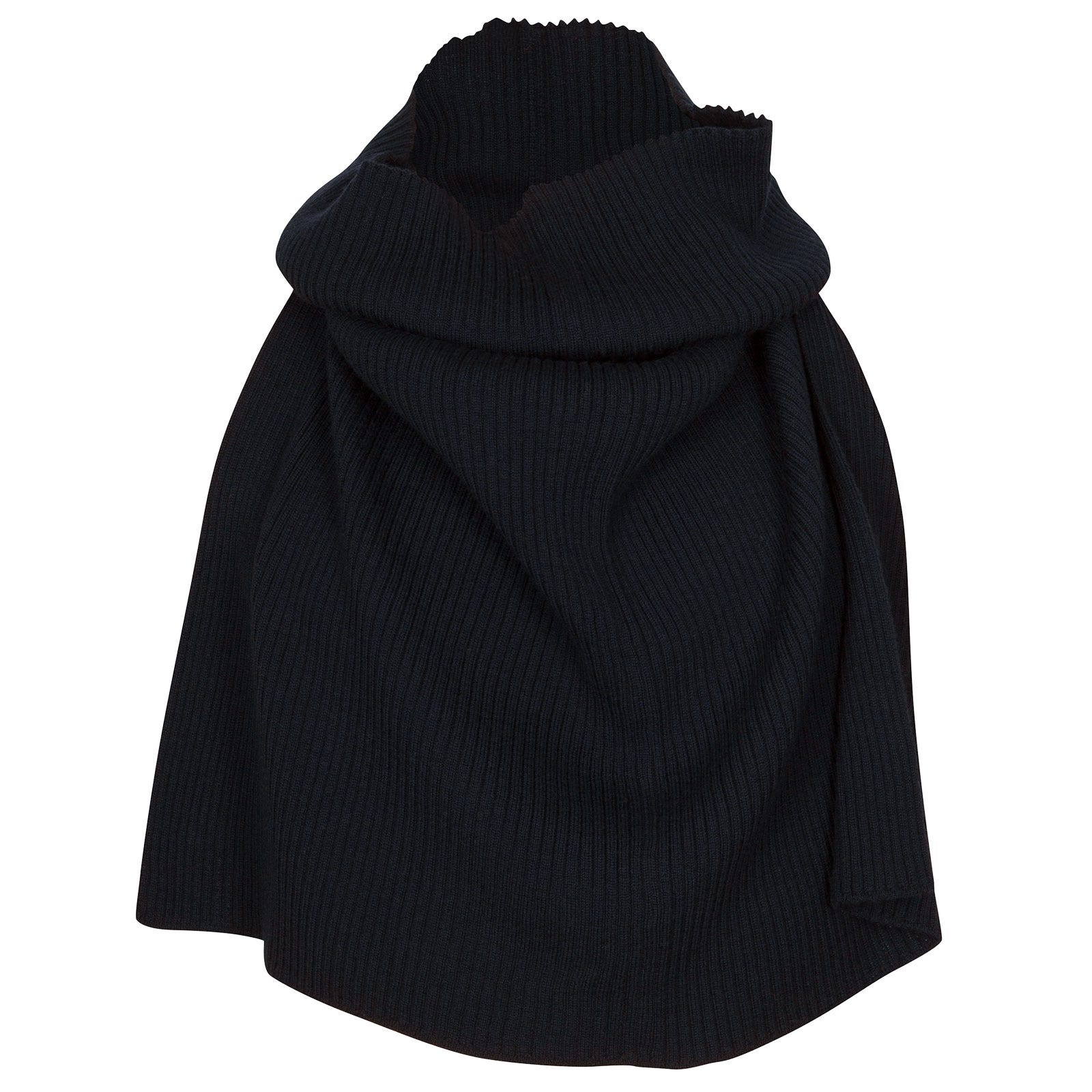 John Smedley Marta Merino Wool Snood in Midnight-ONE