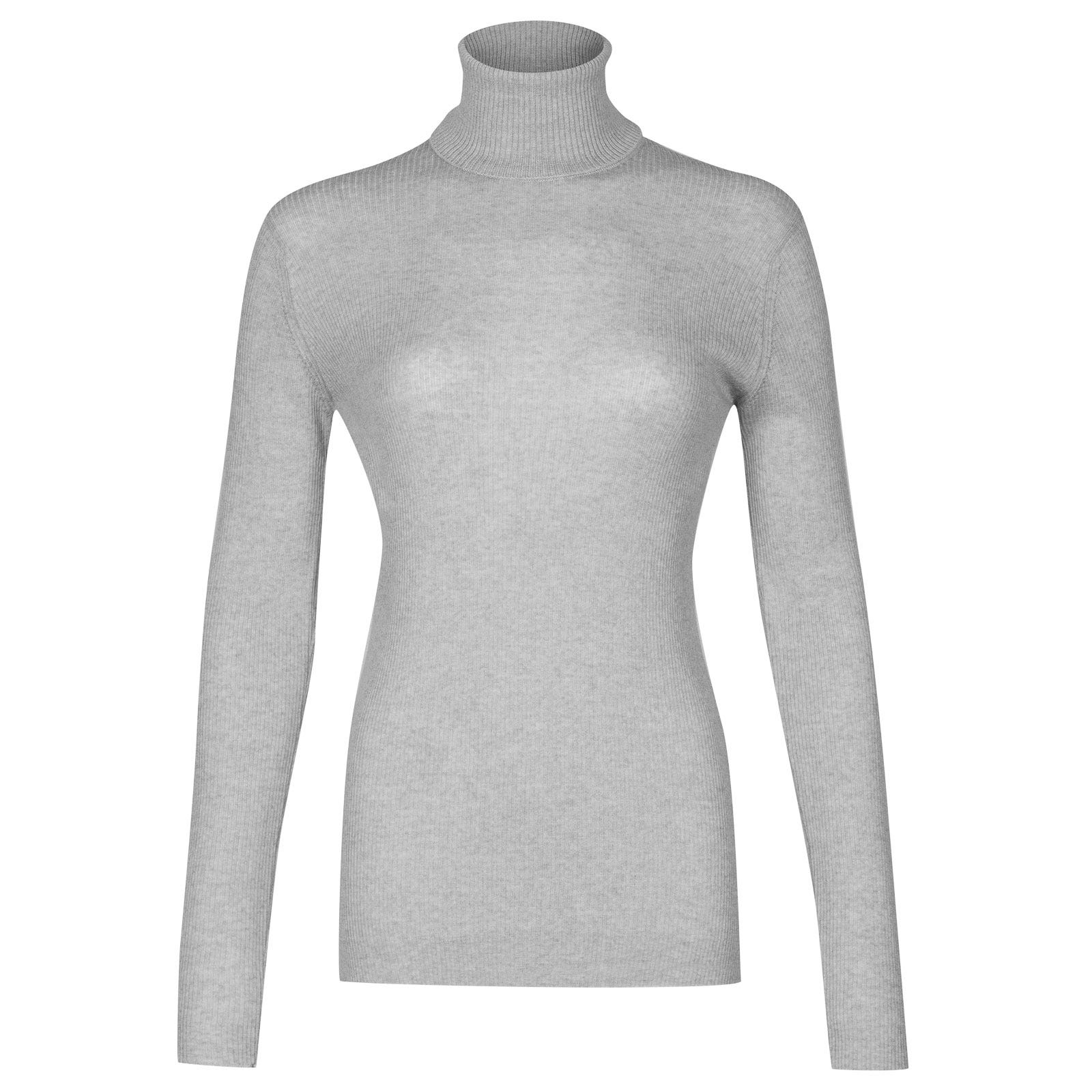 John Smedley massey Merino Wool Sweater in Bardot Grey-XL