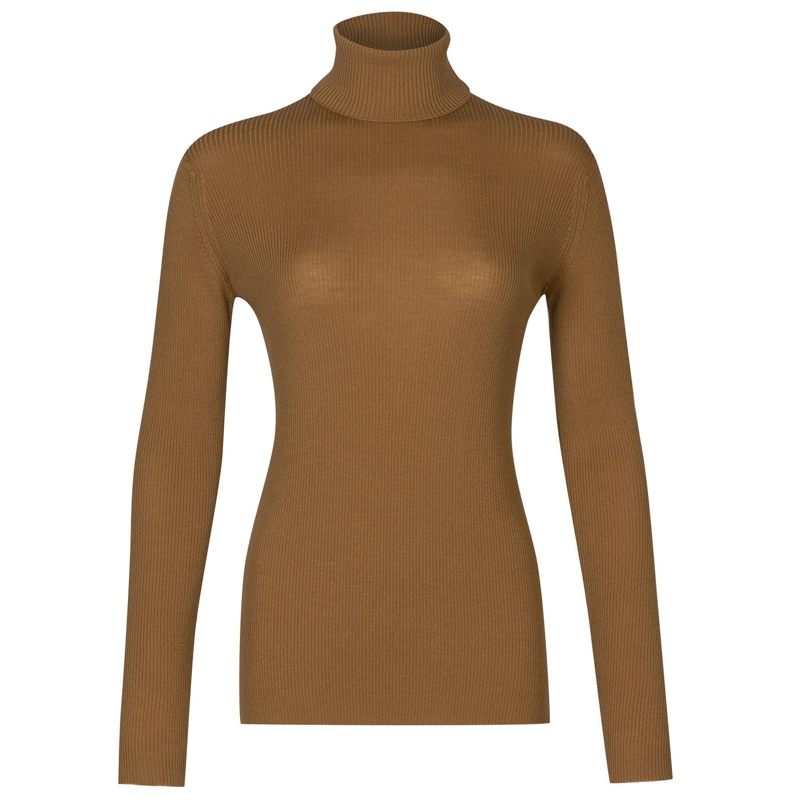 John Smedley massey Merino Wool Sweater in Camel-XL