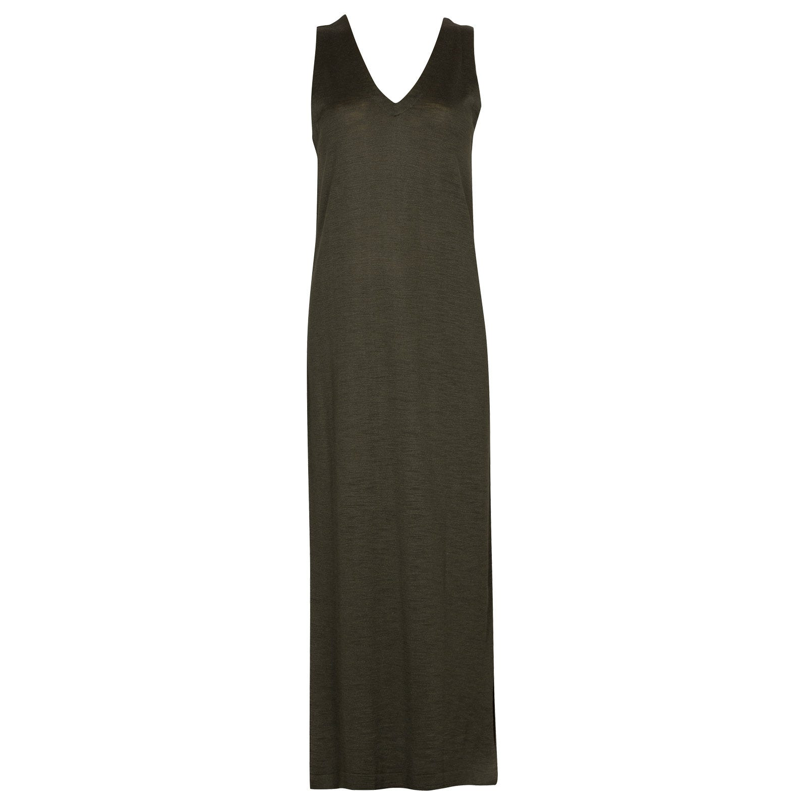 John Smedley Mila in Sepal Green Dress-XSM
