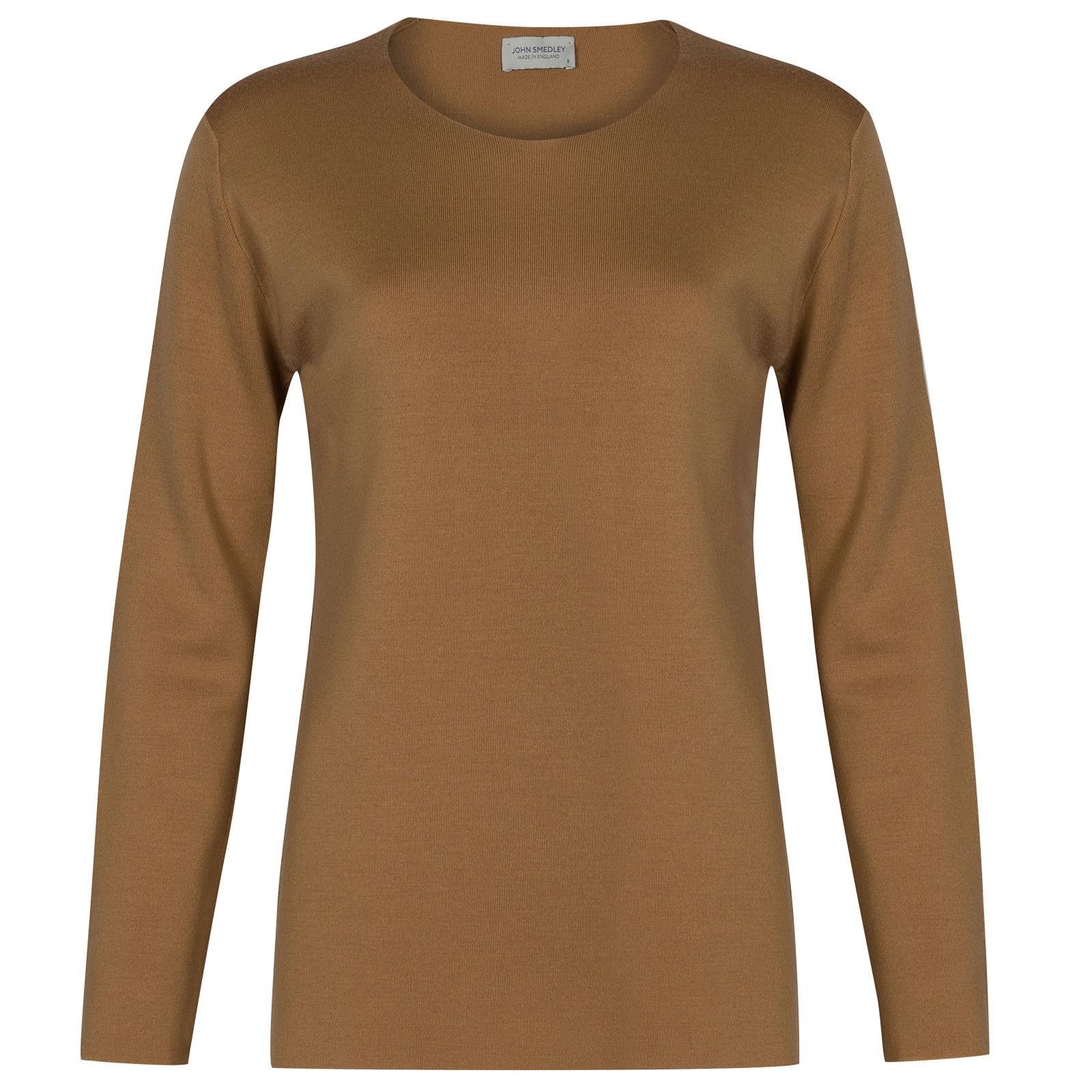 John Smedley Milton Merino Wool Sweater in Camel-S