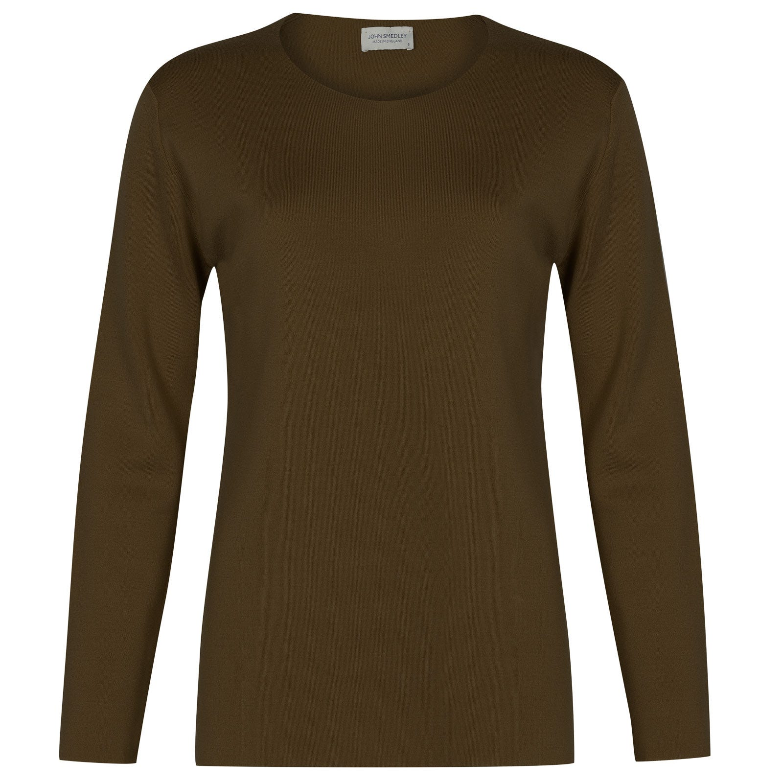 John Smedley Milton Merino Wool Sweater in Kielder Green-XL