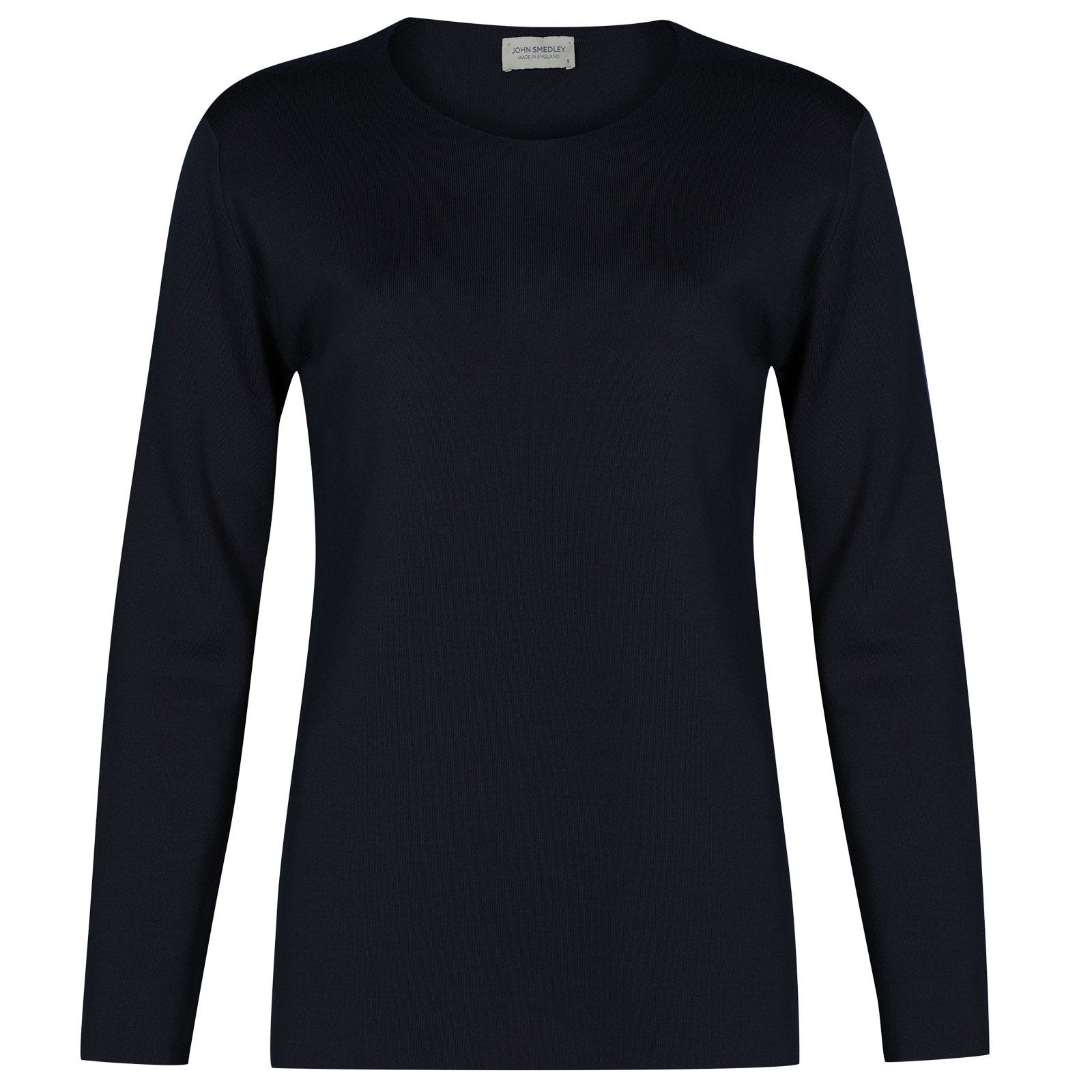 John Smedley Milton Merino Wool Sweater in Midnight-S