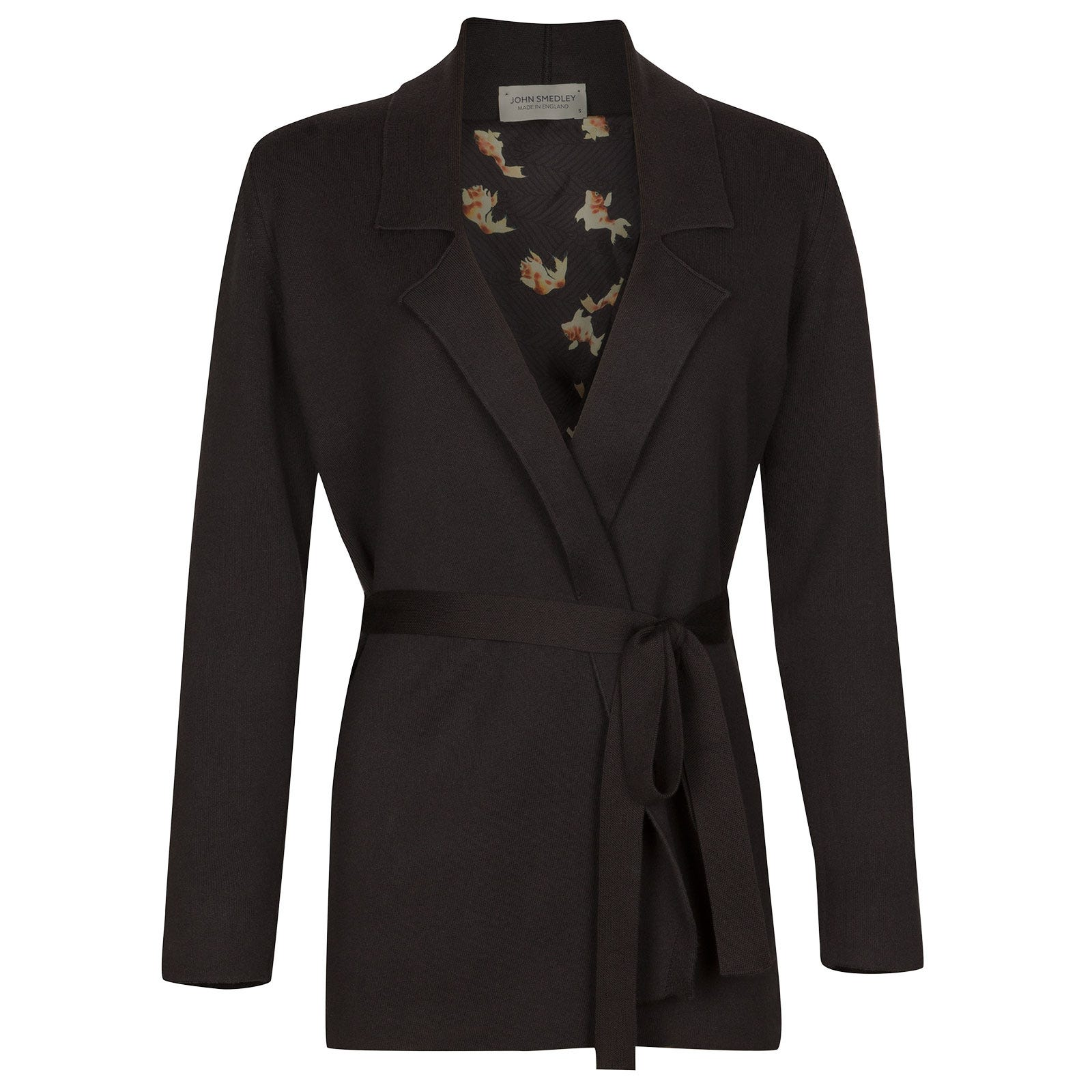 John Smedley Mitford Sea Island Cotton Jacket in Flannel Grey-SML