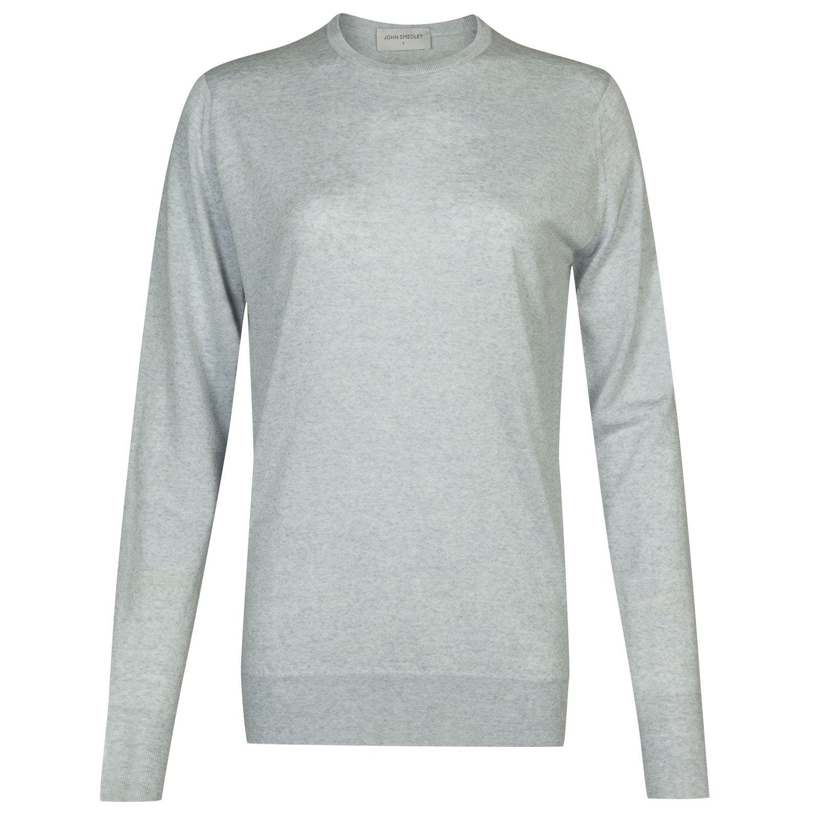 John Smedley Mitzi Merino Wool Sweater in Bardot Grey-XL