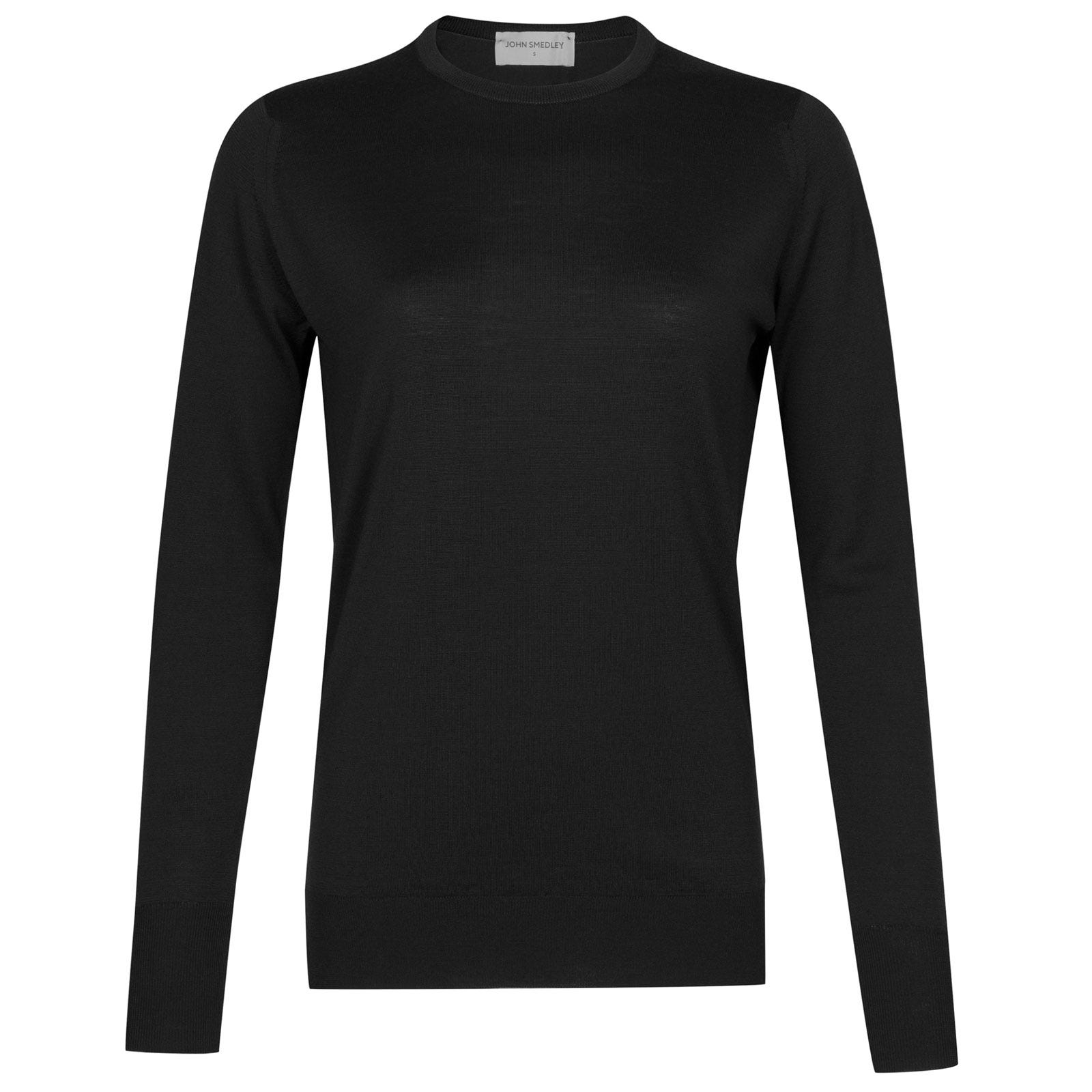 John Smedley Mitzi Merino Wool Sweater in Black-XL