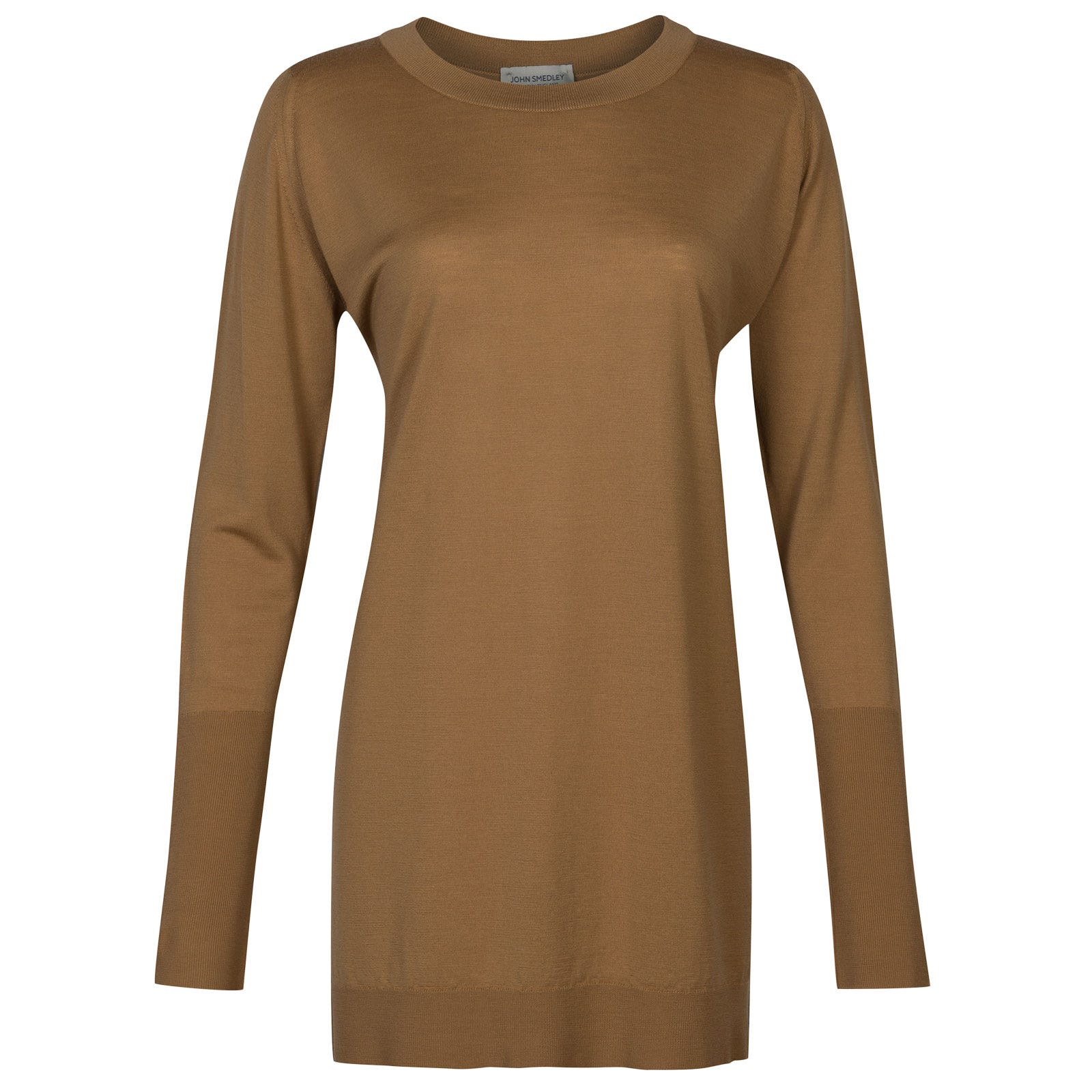 John Smedley molloy Merino Wool Sweater in Camel-XL