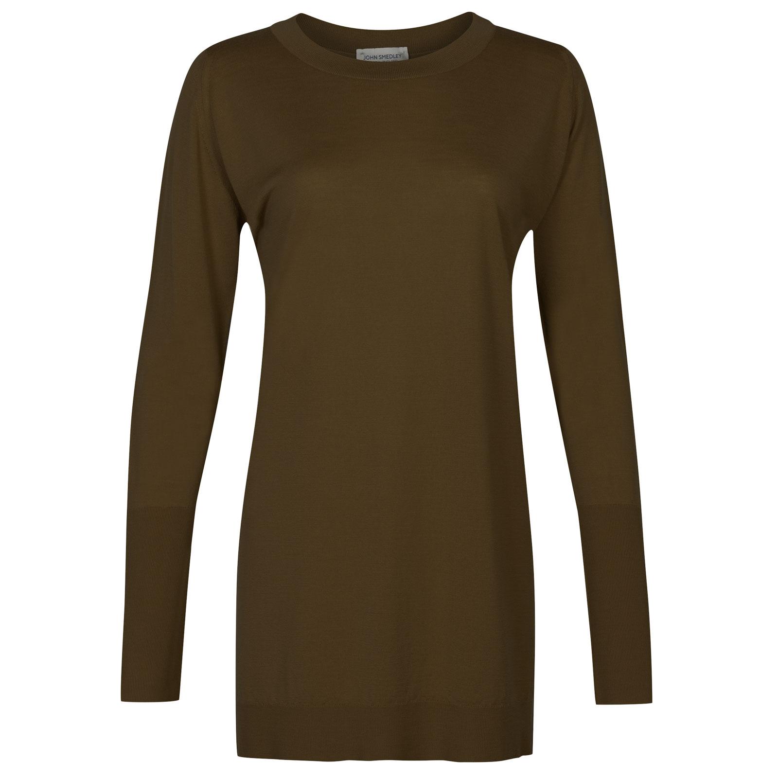John Smedley molloy Merino Wool Sweater in Kielder Green-S