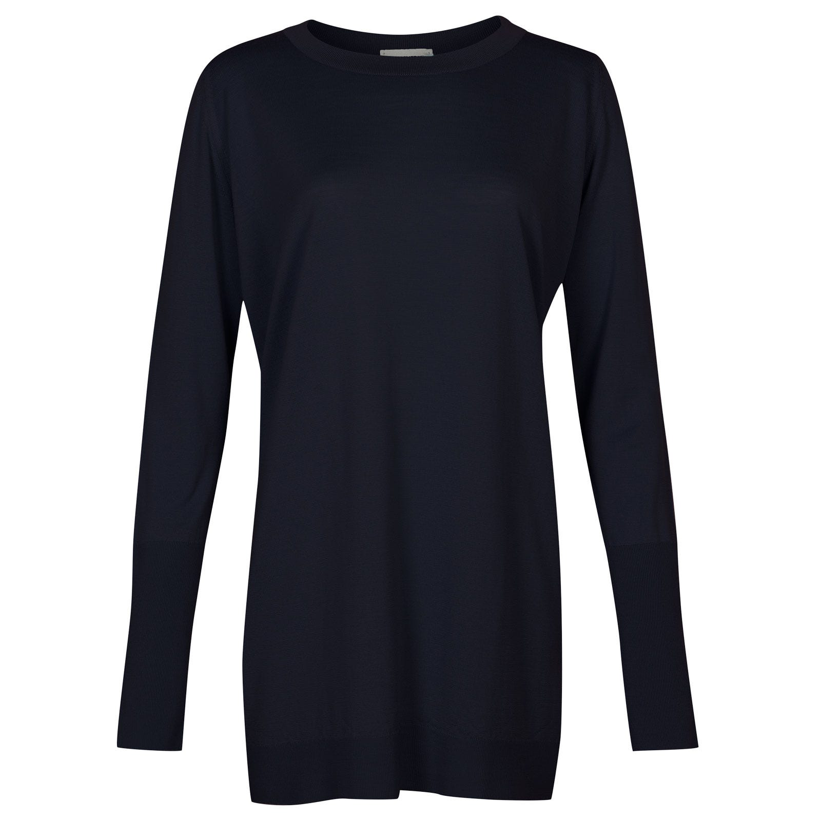 John Smedley molloy Merino Wool Sweater in Midnight-XL