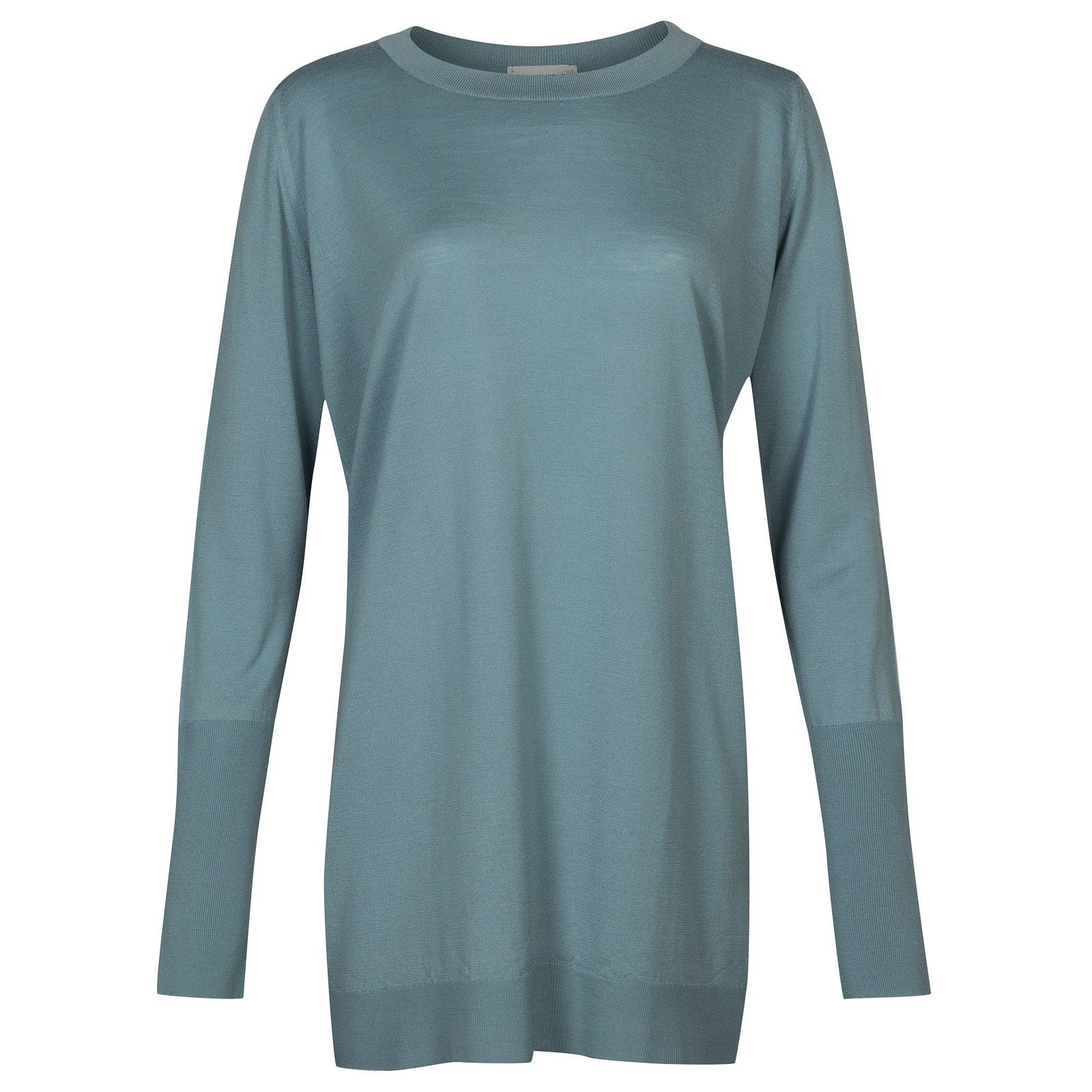 John Smedley molloy Merino Wool Sweater in Summit Blue-M