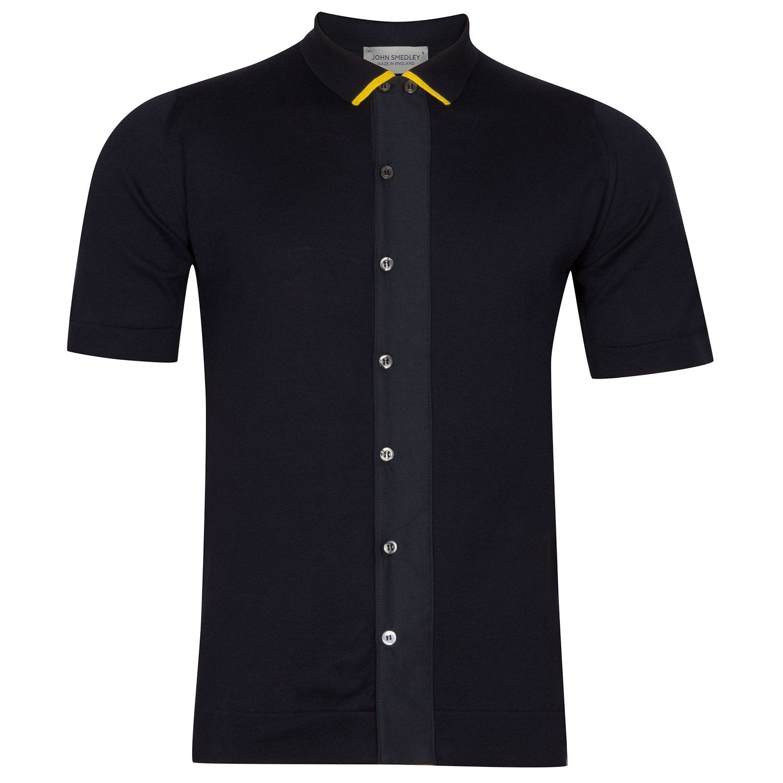 John Smedley molton Sea Island Cotton Polo Shirt in Navy-LGE