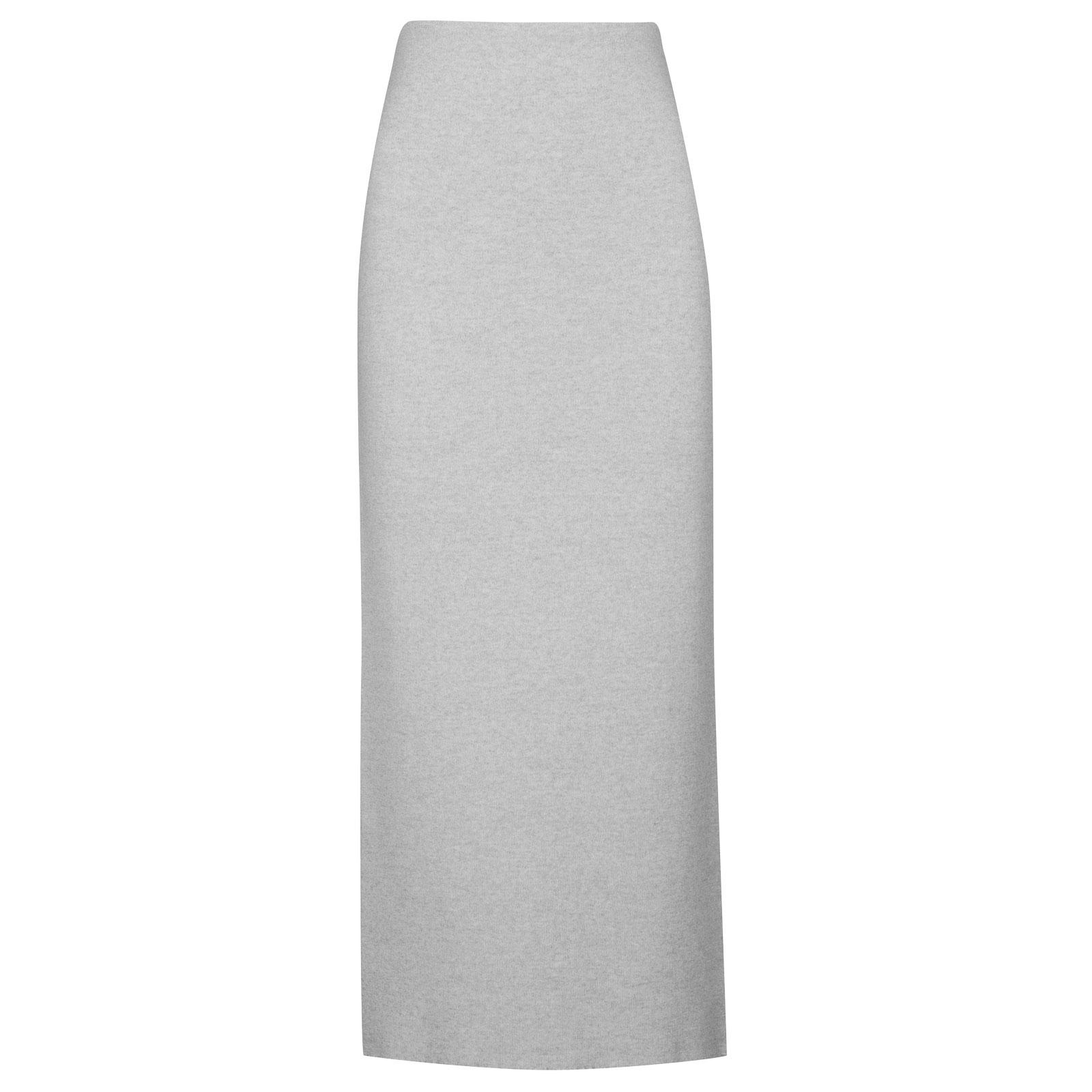 John Smedley moran Merino Wool Skirt in Bardot Grey-XL