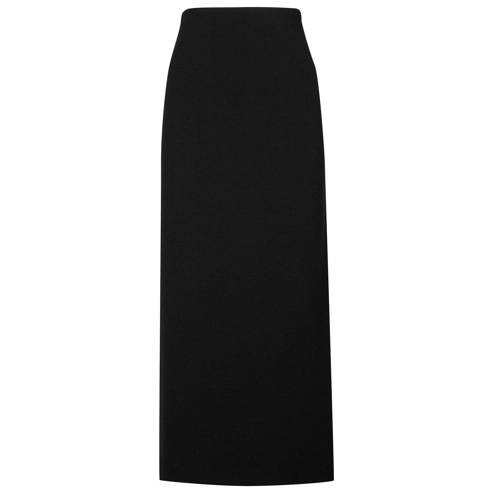 John Smedley moran Merino Wool Skirt in Black-S