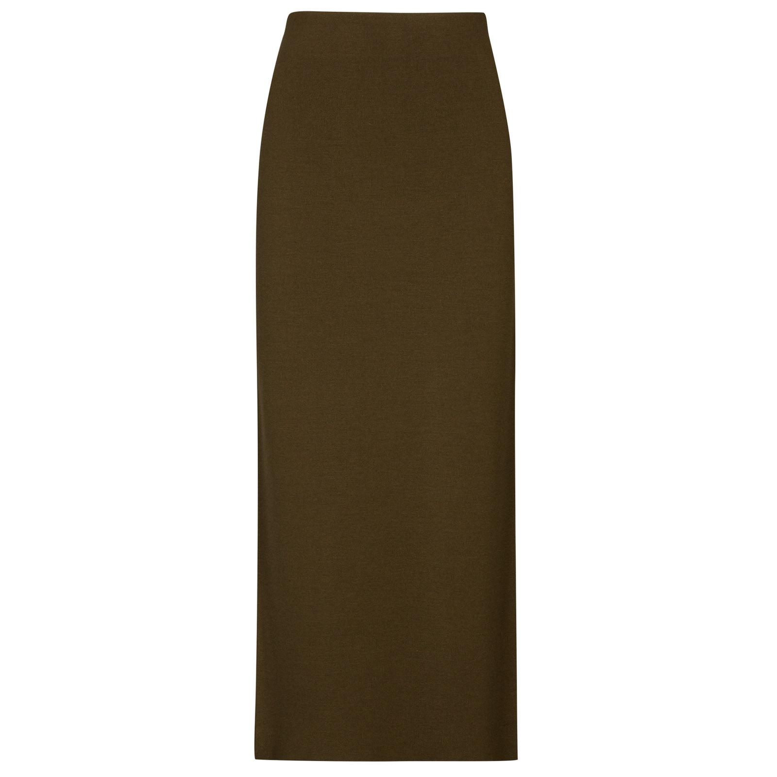 John Smedley moran Merino Wool Skirt in Kielder Green-M