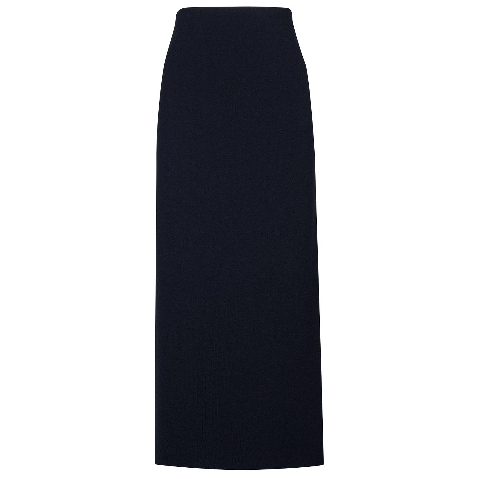 John Smedley moran Merino Wool Skirt in Midnight-M