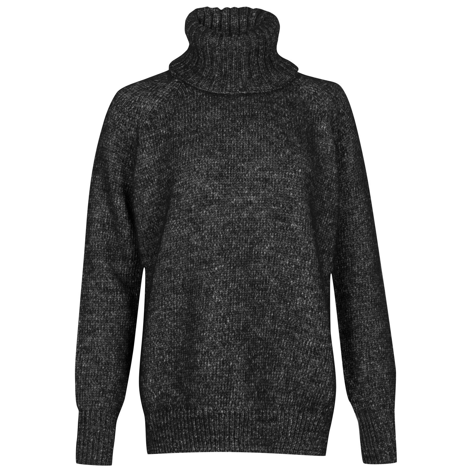 John Smedley Morar Alpaca, Wool & Cotton Sweater in Black-S
