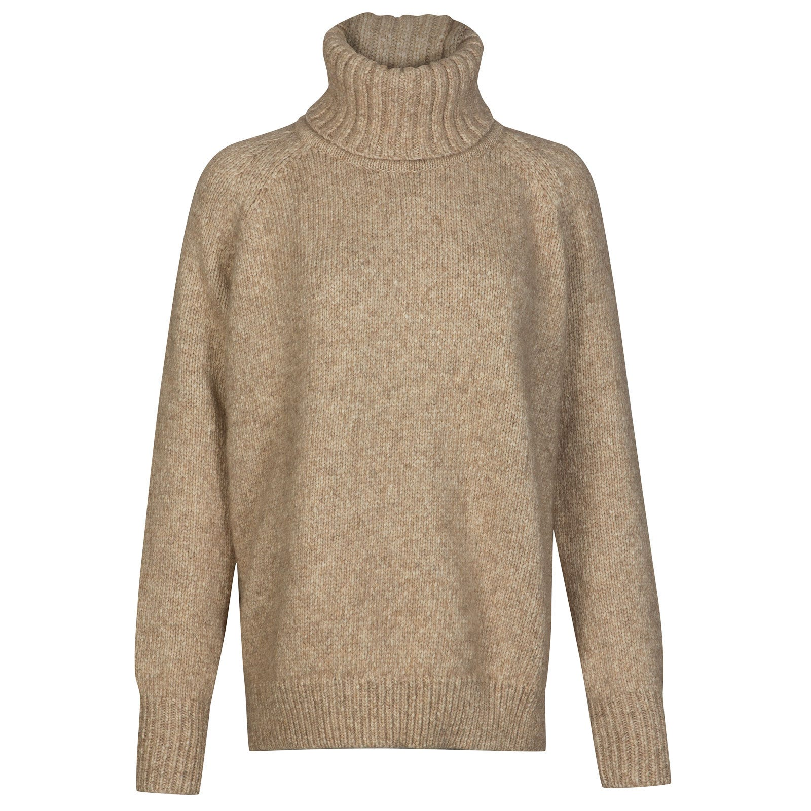 John Smedley Morar Alpaca, Wool & Cotton Sweater in Camel-S