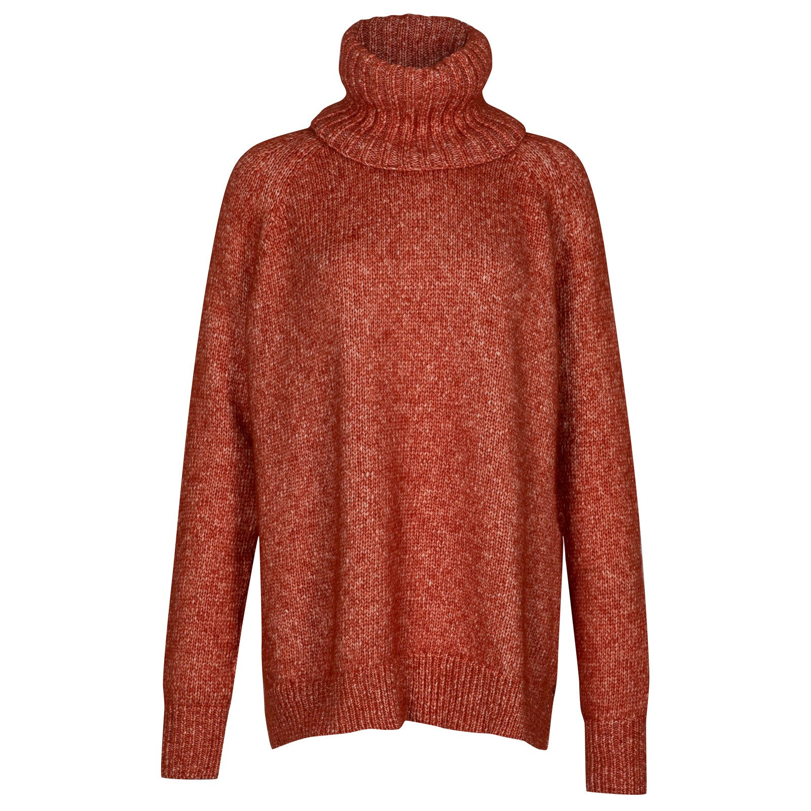 John Smedley Morar Alpaca, Wool & Cotton Sweater in Flare Orange-S