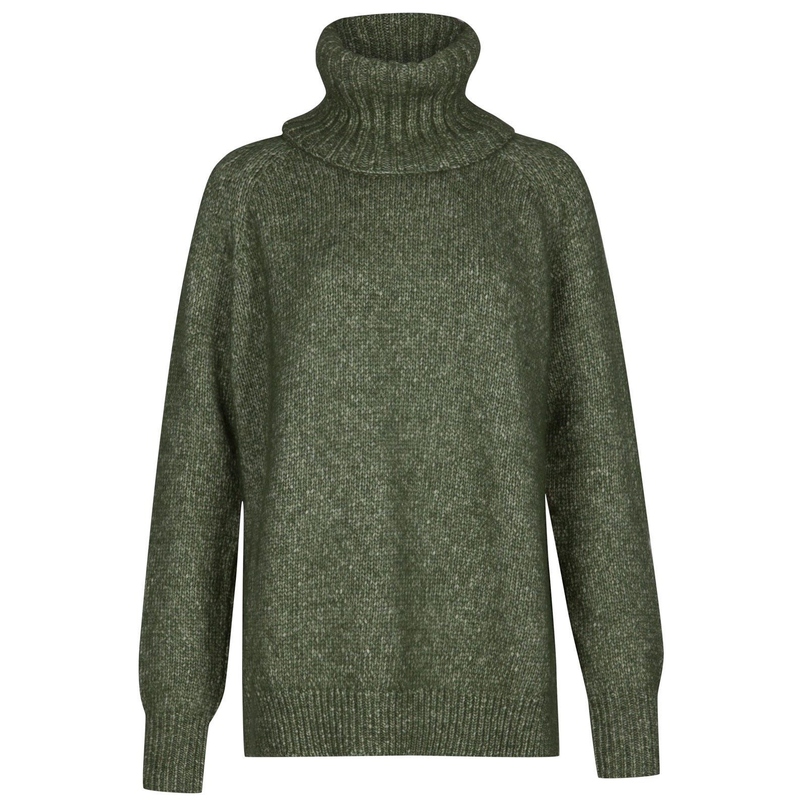 John Smedley Morar Alpaca, Wool & Cotton Sweater in Kielder Green-M