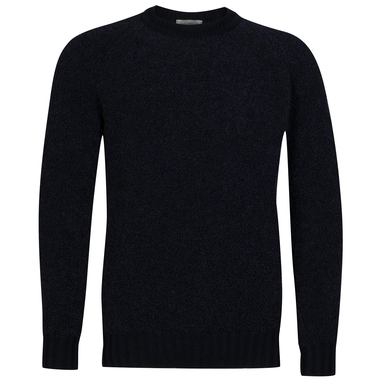 John Smedley Moss Alpaca & Wool Pullover in Midnight-L