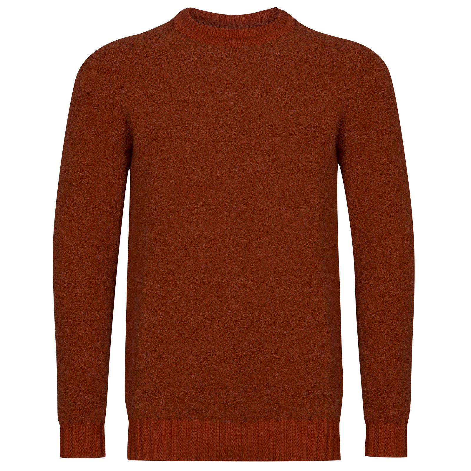 John Smedley Moss Alpaca & Wool Pullover in Flare Orange-XL