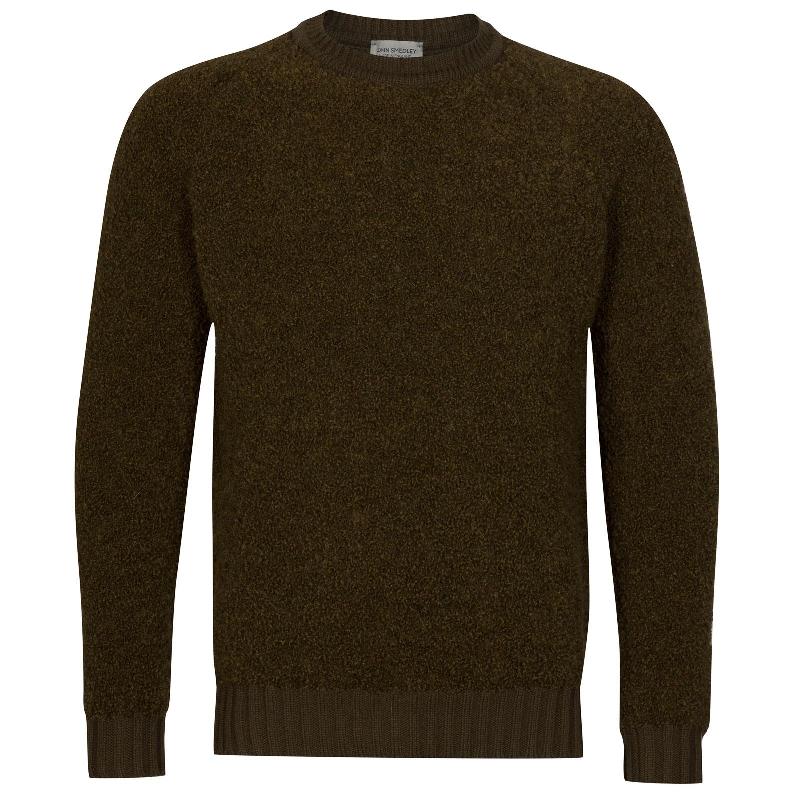 John Smedley Moss Alpaca & Wool Pullover in Kielder Green-S