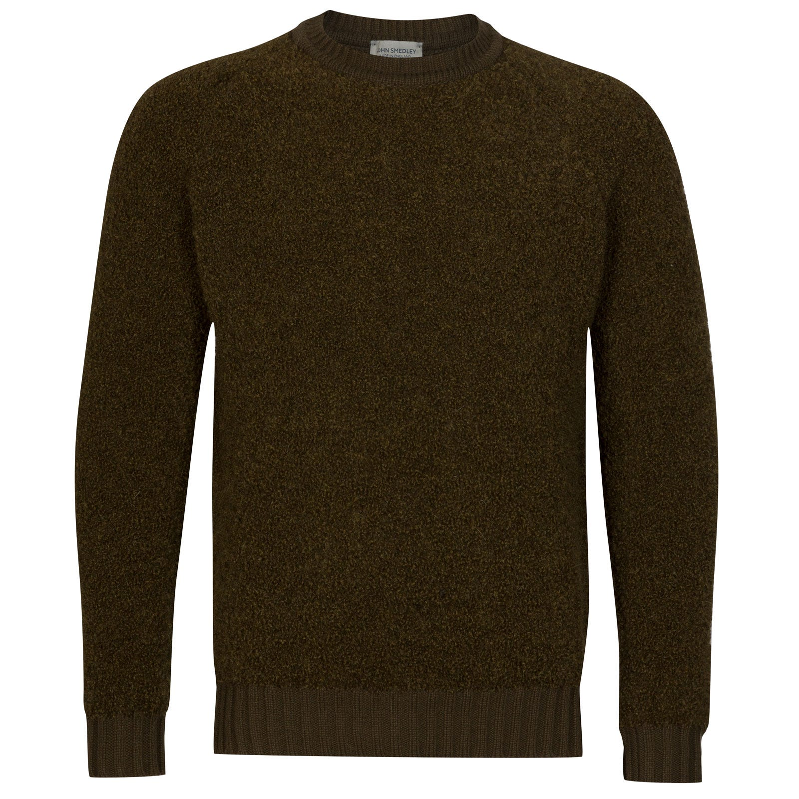 John Smedley Moss Alpaca & Wool Pullover in Kielder Green-XL