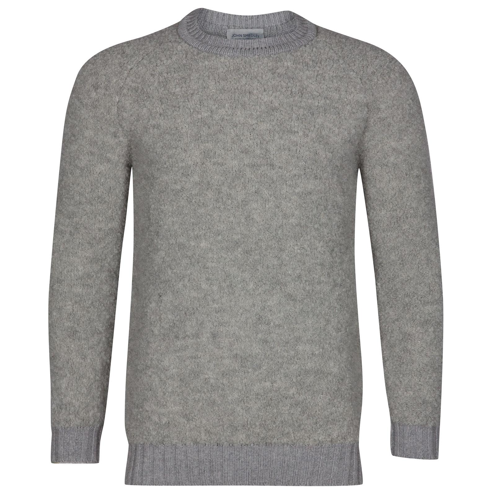 John Smedley Moss Alpaca & Wool Pullover in Silver-XL