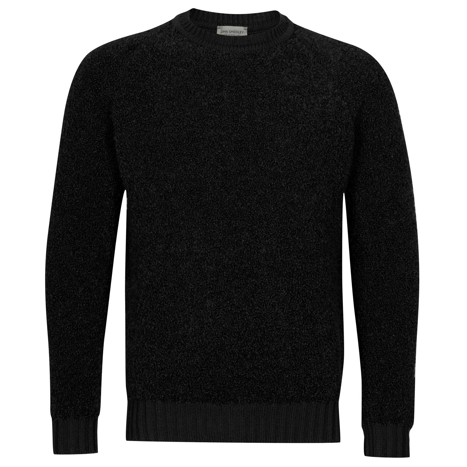 John Smedley Moss Alpaca & Wool Pullover in Black-S