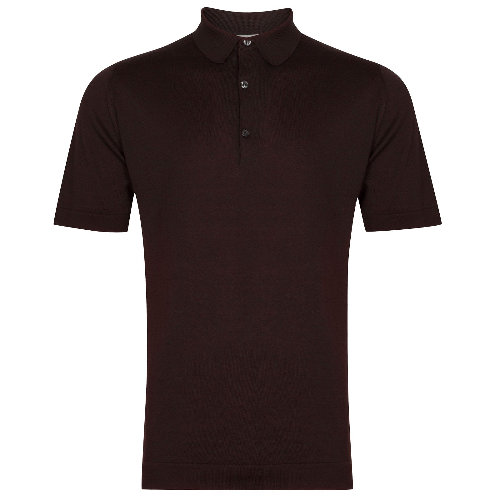 John Smedley Mycroft in Dark Leather Shirt-LGE