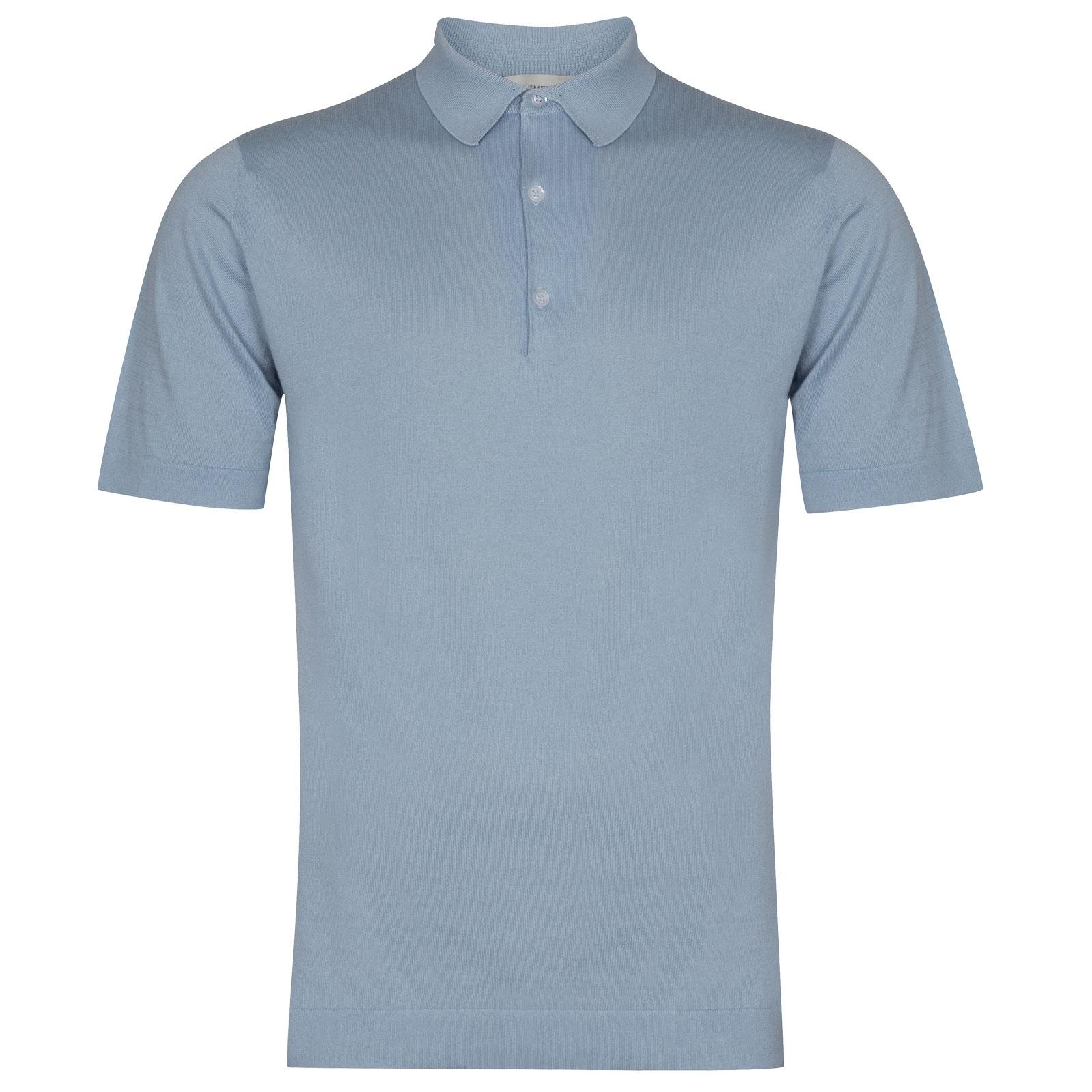 John Smedley Mycroft in Dusk Blue Shirt-LGE