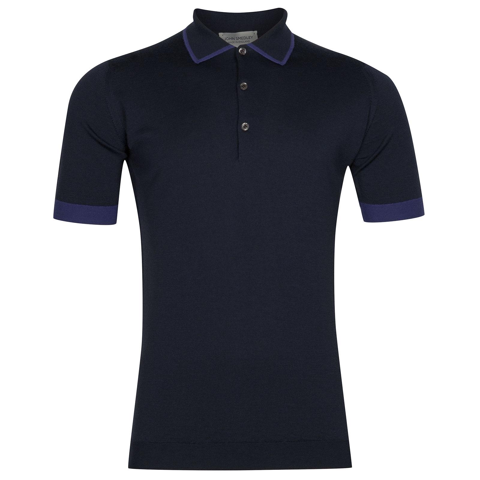 John Smedley Nailsea Extra Fine Merino Shirt in Midnight-M