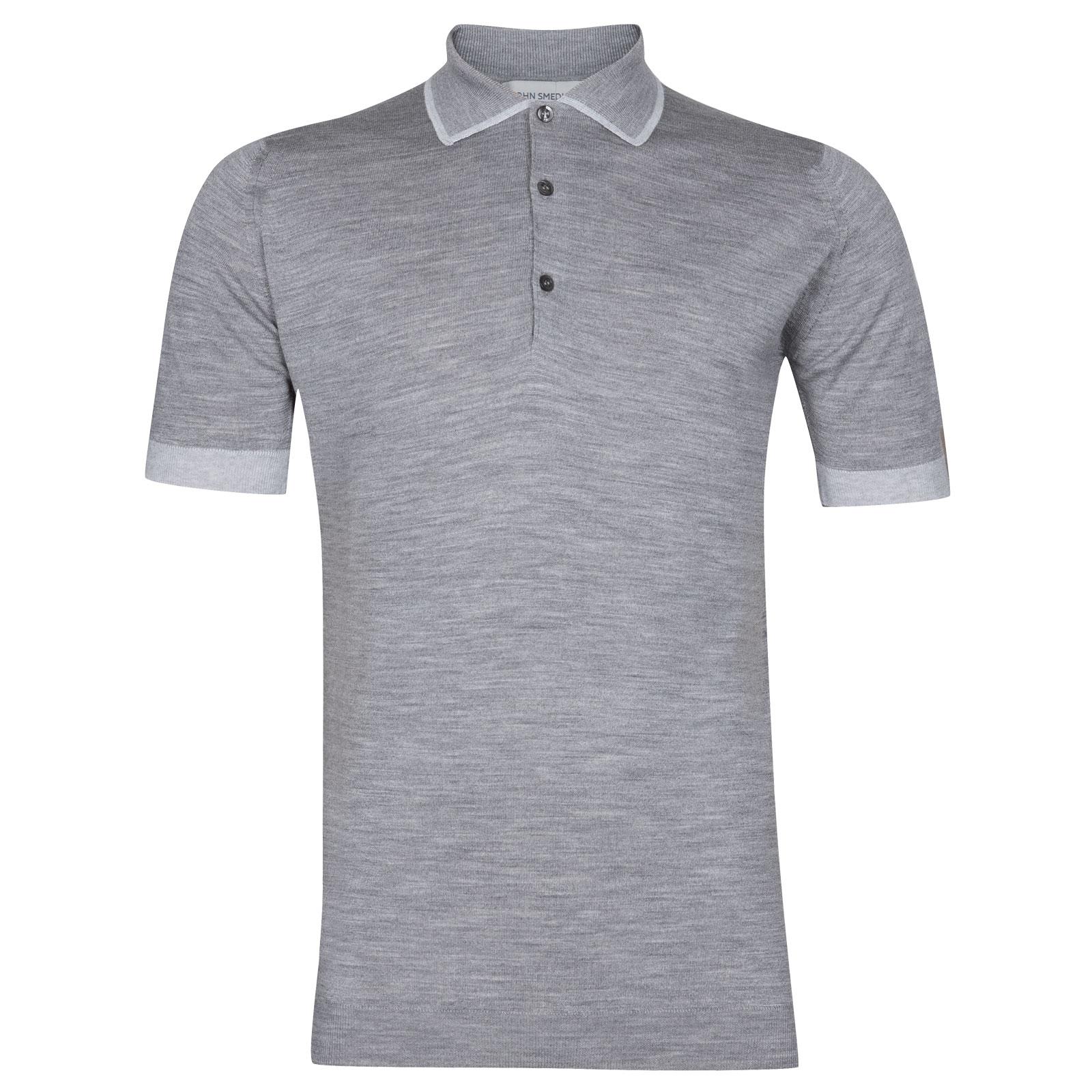 John Smedley Nailsea Extra Fine Merino Shirt in Silver-L