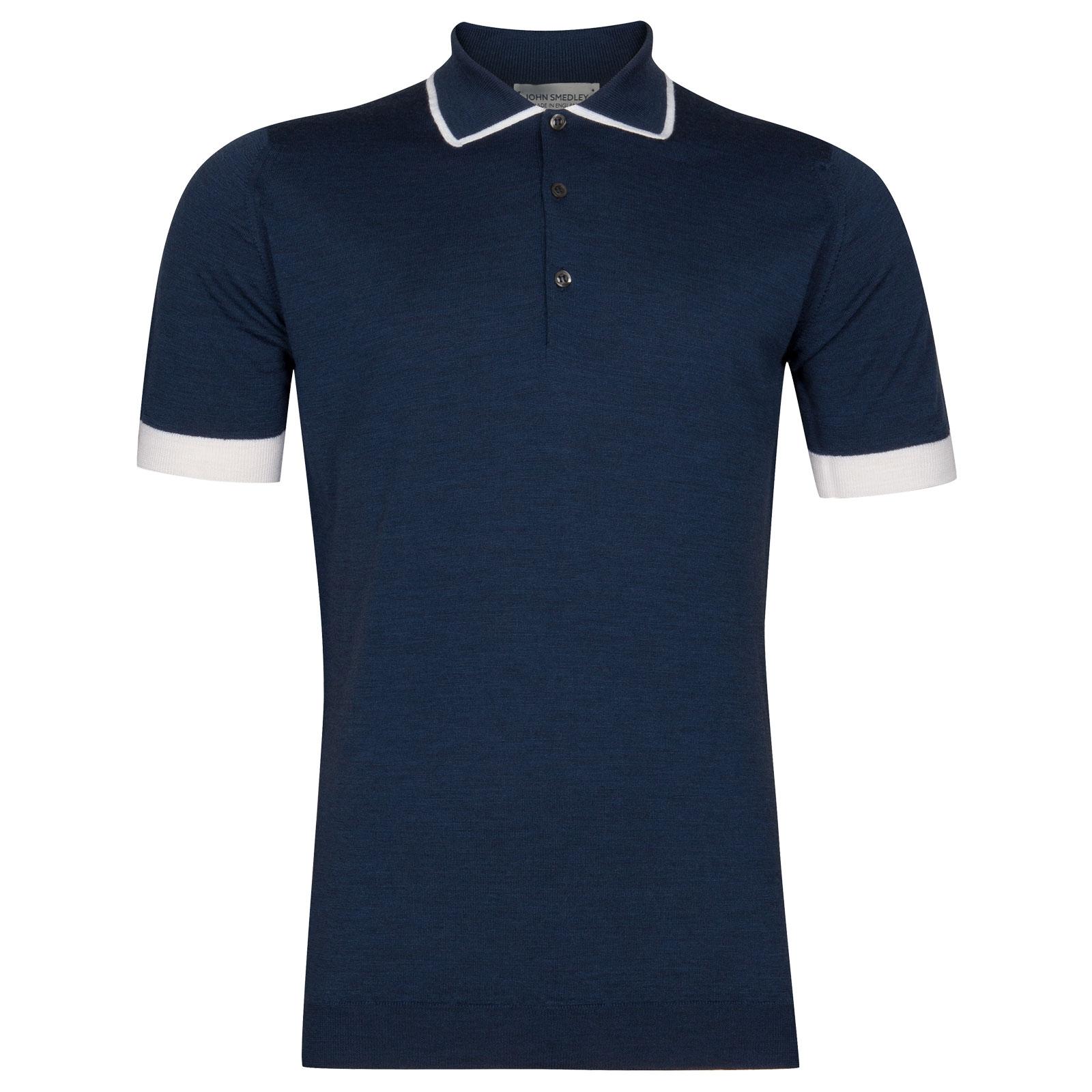 John Smedley Nailsea Extra Fine Merino Shirt in Indigo-M