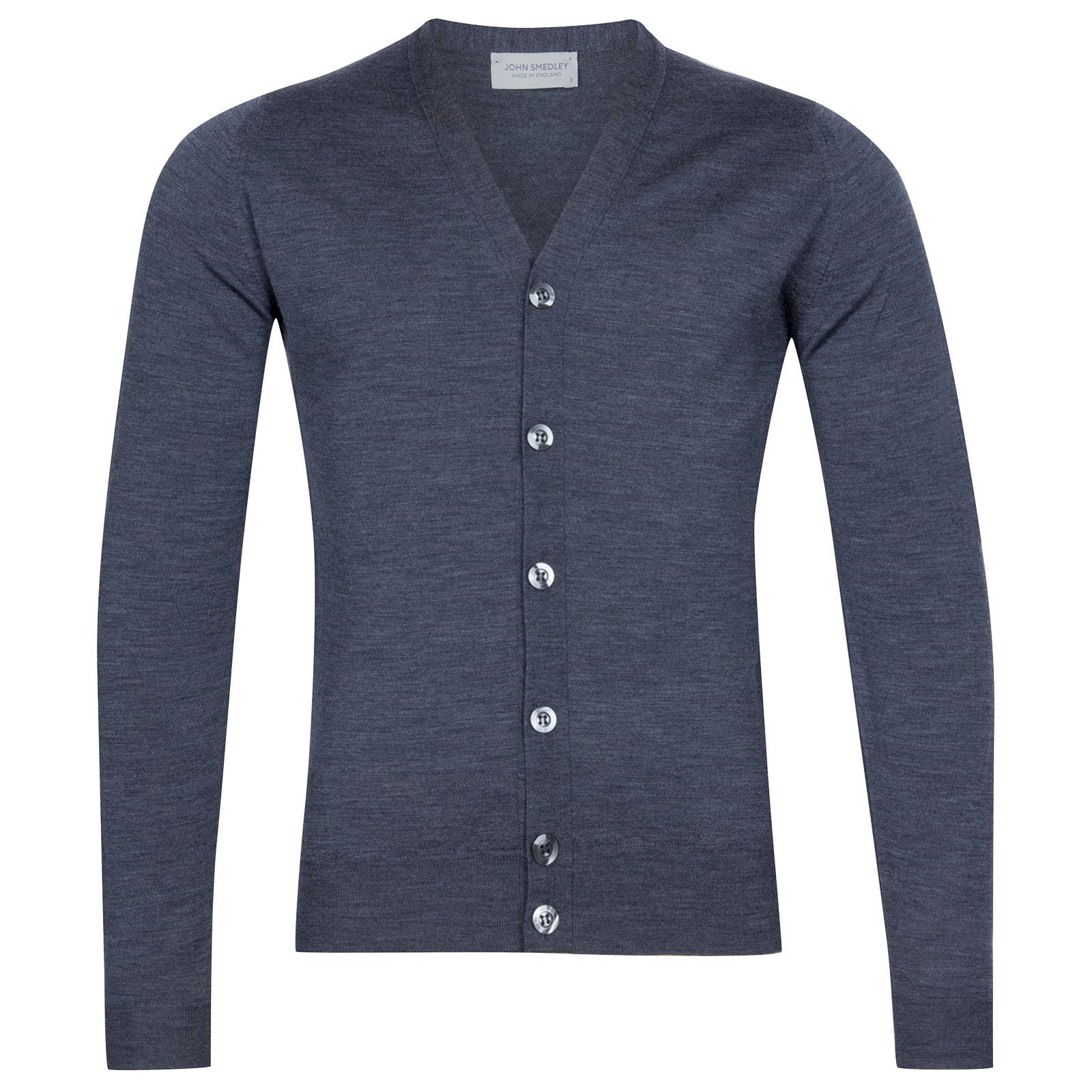 John Smedley Naples Merino Wool Cardigan in Charcoal-L