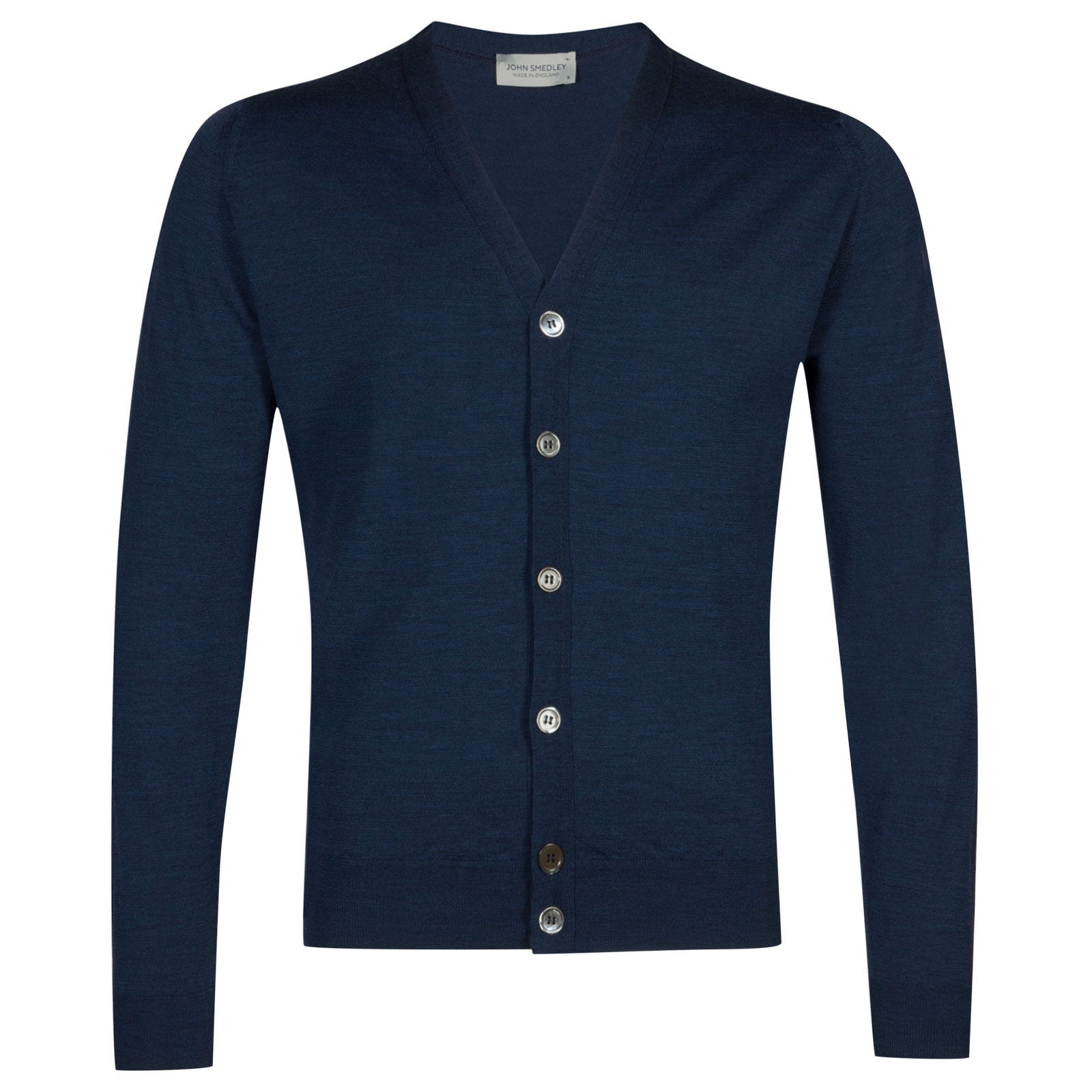 John Smedley naples Merino Wool Cardigan in Indigo-XL
