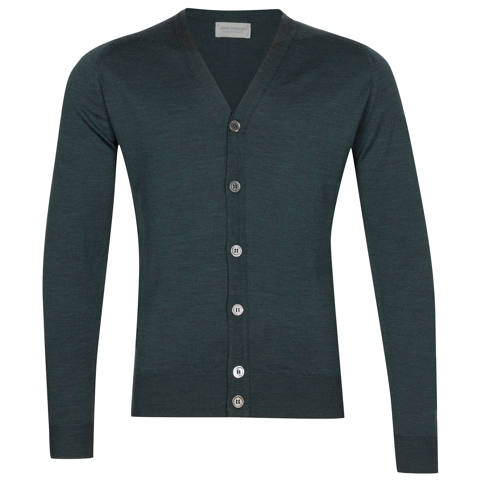 John Smedley Naples Merino Wool Cardigan in Racing Green-XL