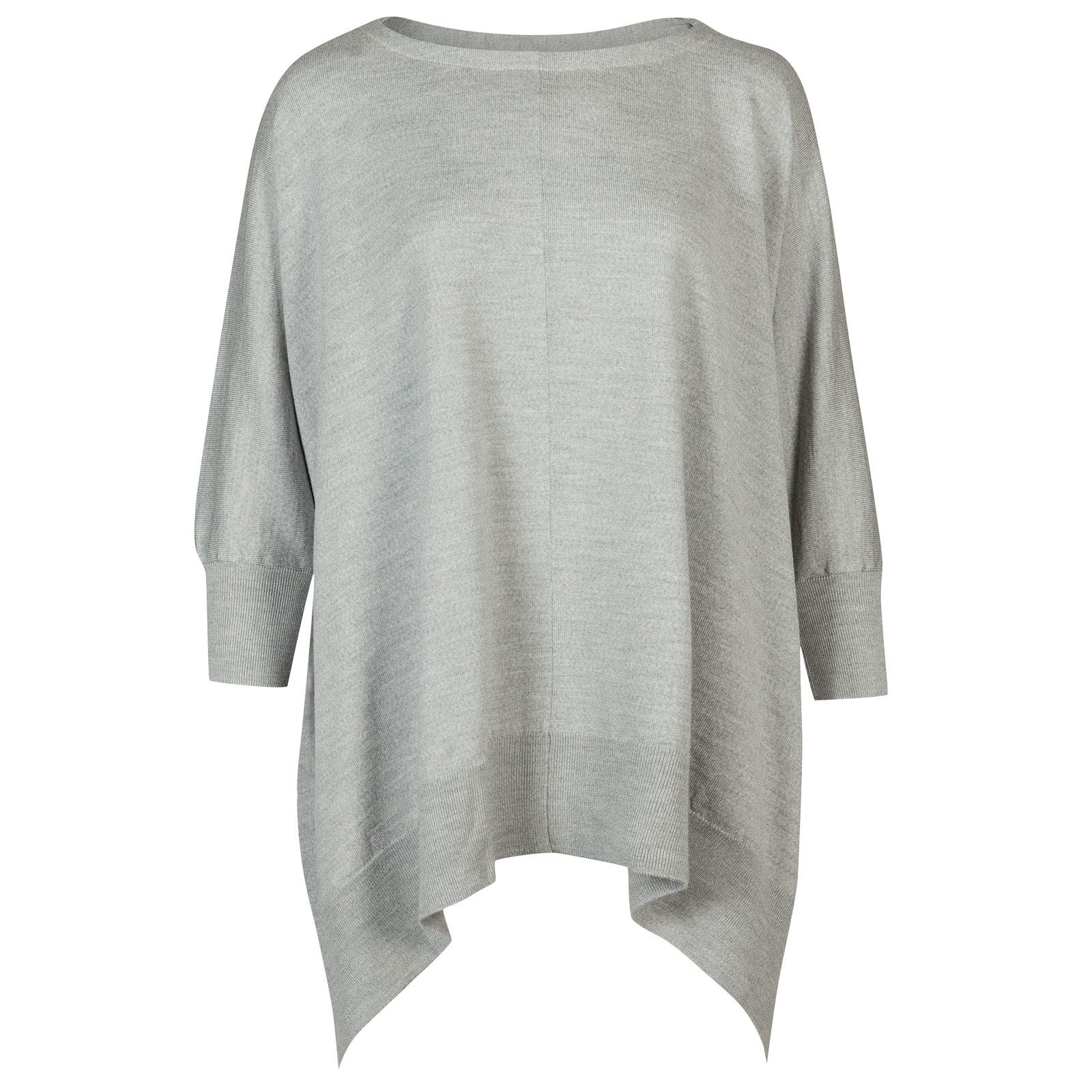 John Smedley nelle Merino Wool Cape in Bardot Grey-One